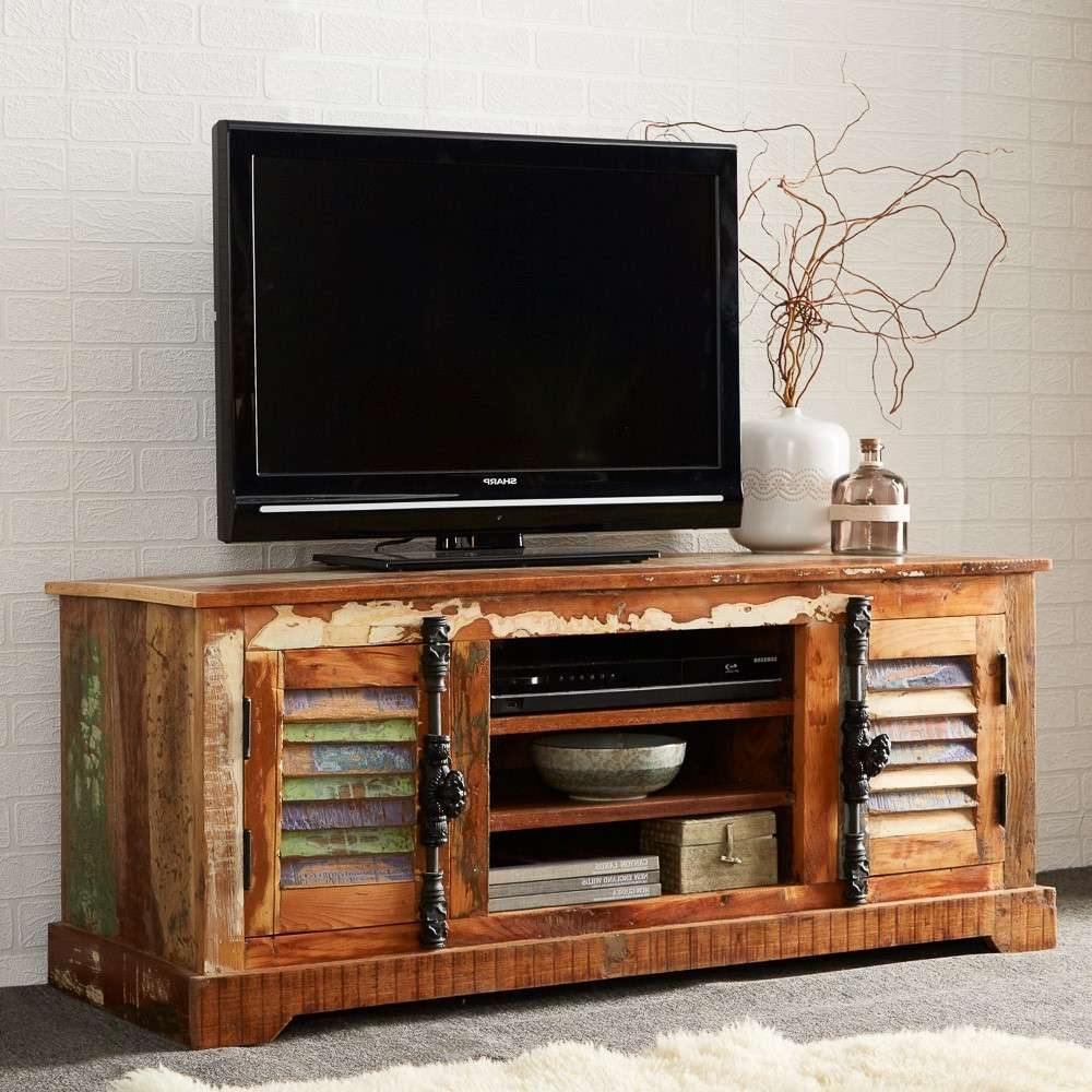 Reclaimed Indian Wide Tv Cabinet | Casa Bella Furniture Uk Pertaining To Wide Tv Cabinets (View 12 of 20)