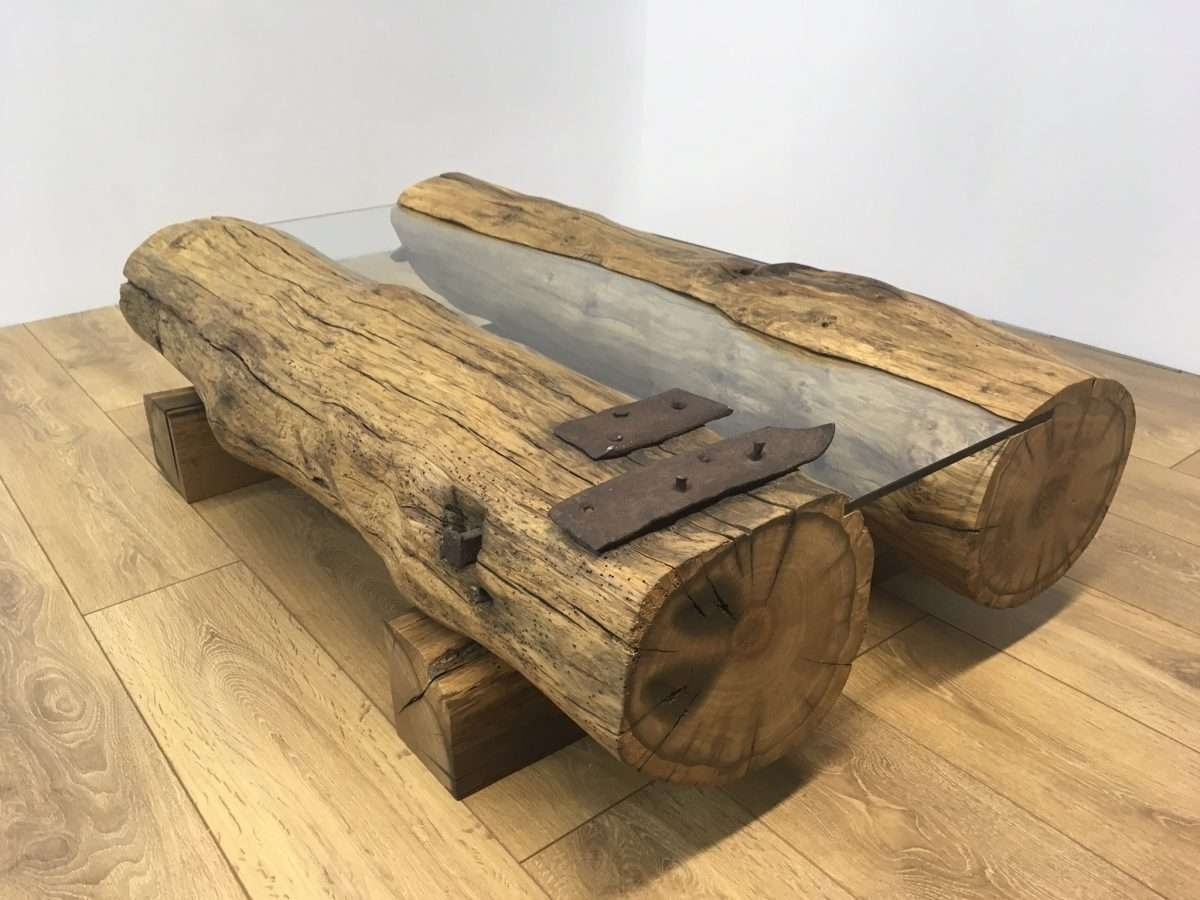 Reclaimed Oak Beam Coffee Table Ii (View 14 of 20)