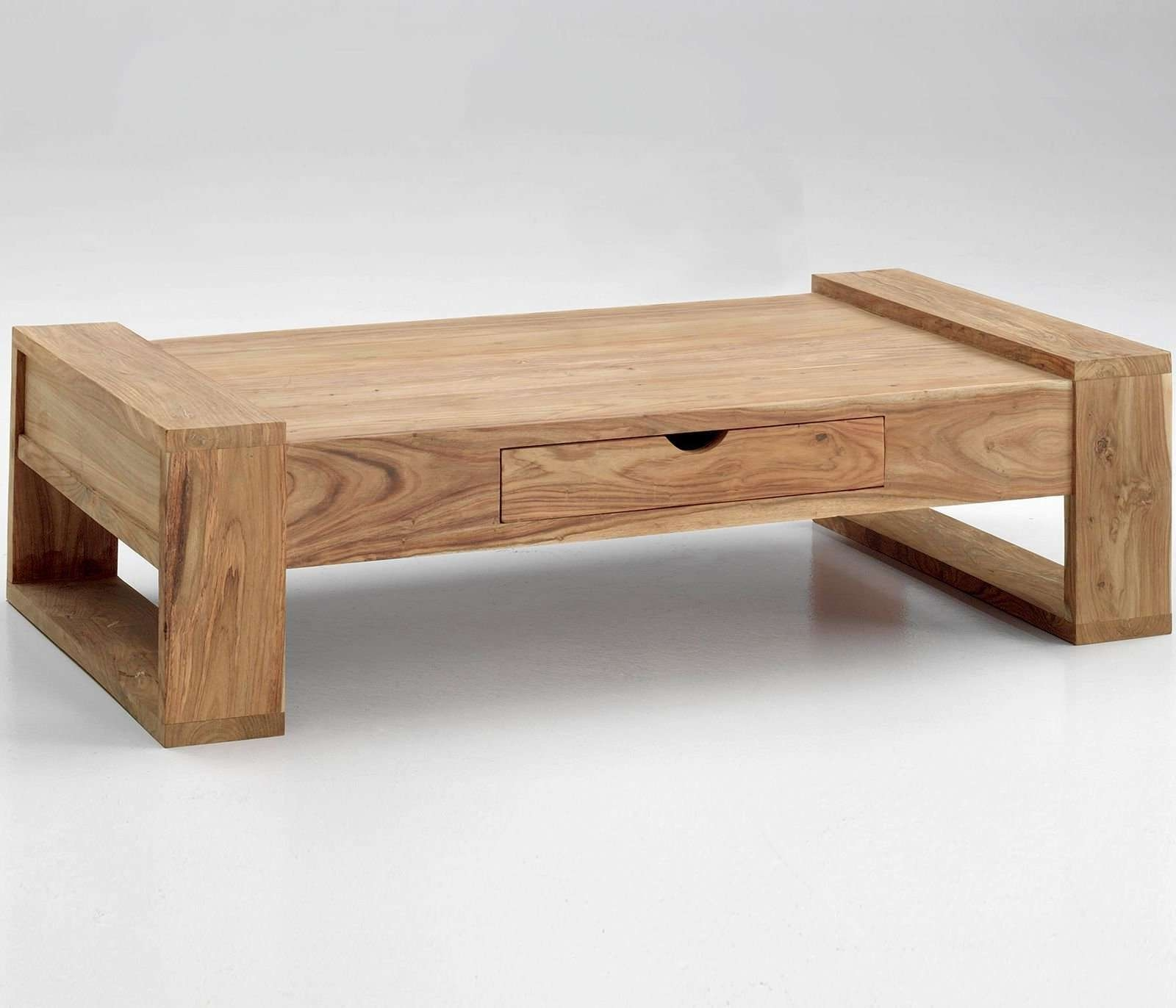 2018 latest low coffee tables with drawers for Low coffee table wood