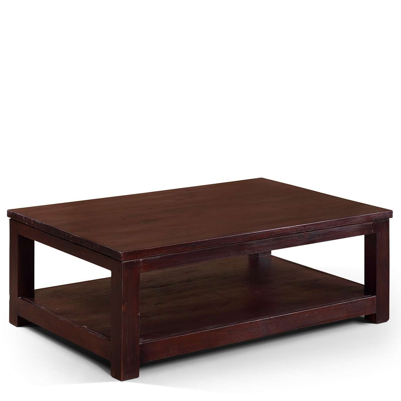 Rectangle Antique Solid Wood Dark Brown Coffee Table Designs Ideas Inside Trendy Dark Brown Coffee Tables (View 14 of 20)