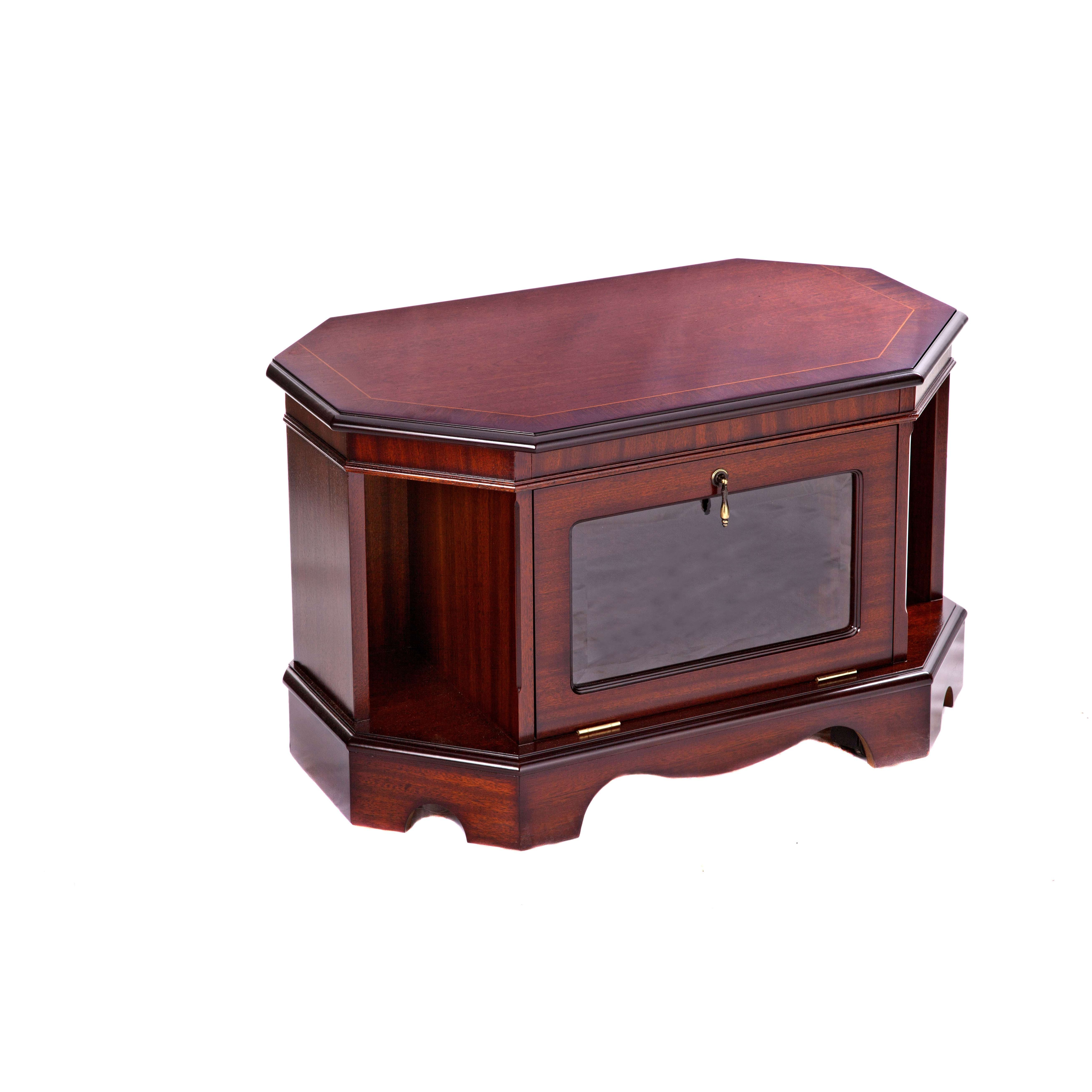 Regency Tv Cabinet In Mellow Mahogany In Mahogany Tv Cabinets (View 2 of 20)