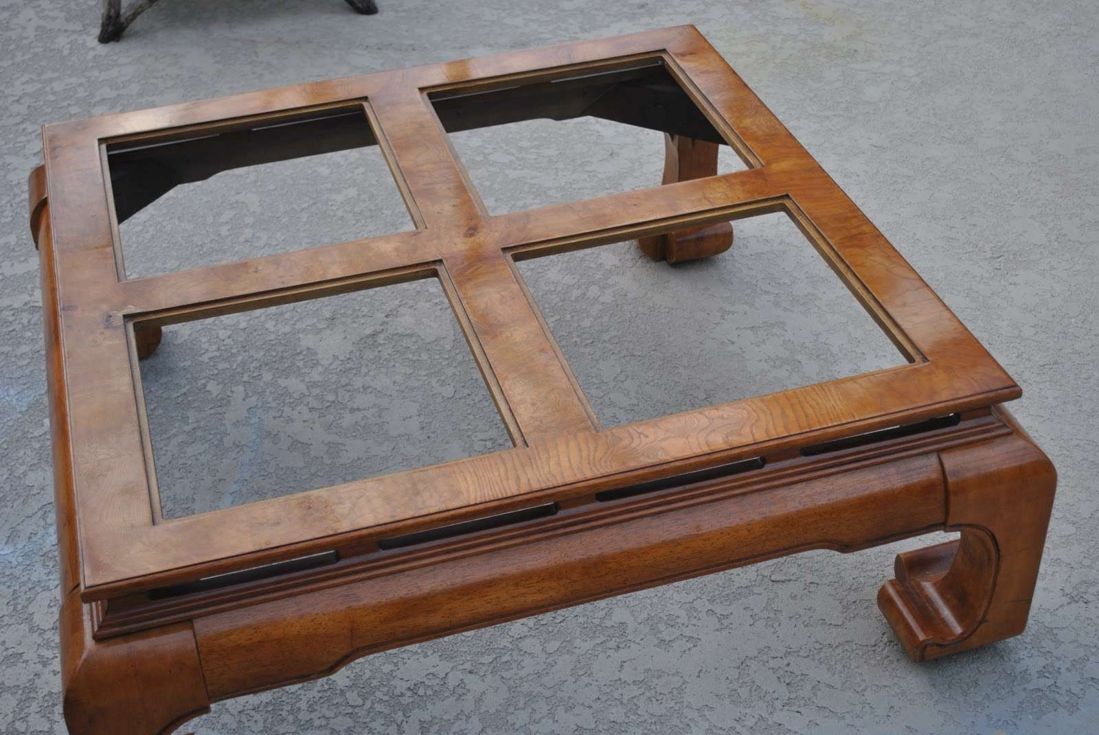 "Renew Redo!: Asian Style Coffee Table Turned Swanky Ottoman! ""how To"" Inside Current Asian Coffee Tables (View 4 of 20)"