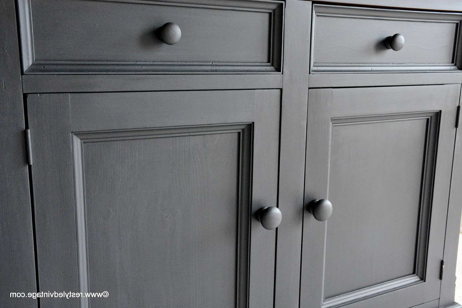 Restyled Vintage: How To Get A Great Waxed Finish On Graphite Regarding Annie Sloan Painted Sideboards (View 7 of 20)