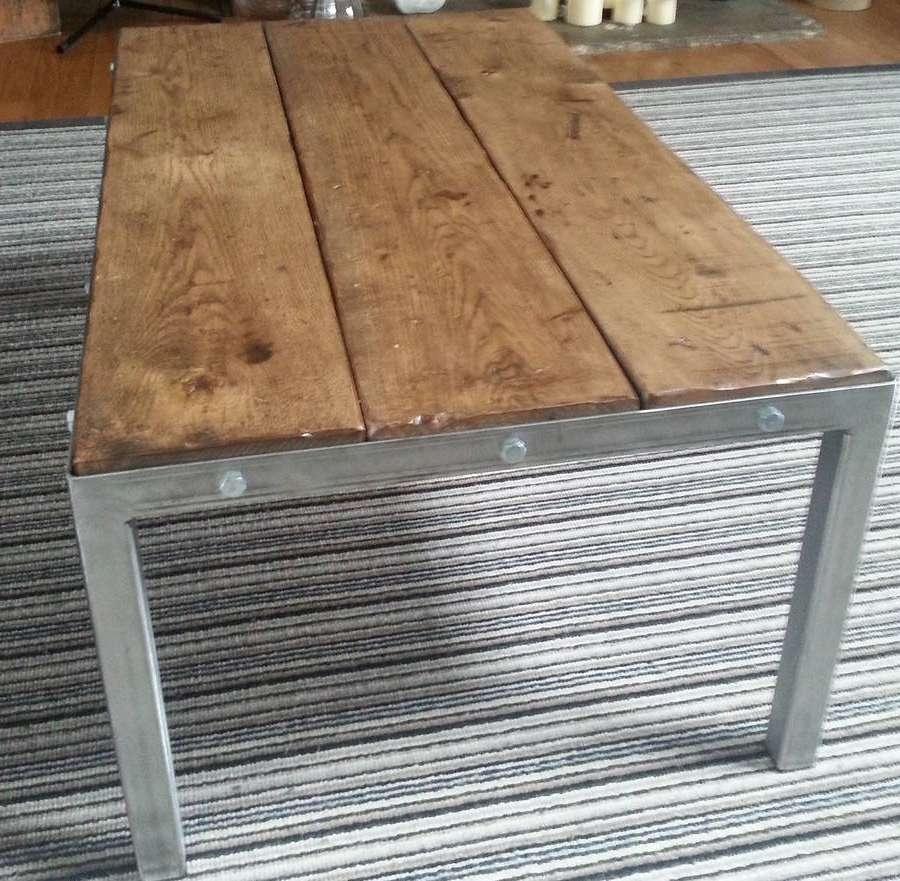 Retro Style Oak Coffee Tableurban Metalworks With Trendy Retro Oak Coffee Tables (View 20 of 20)