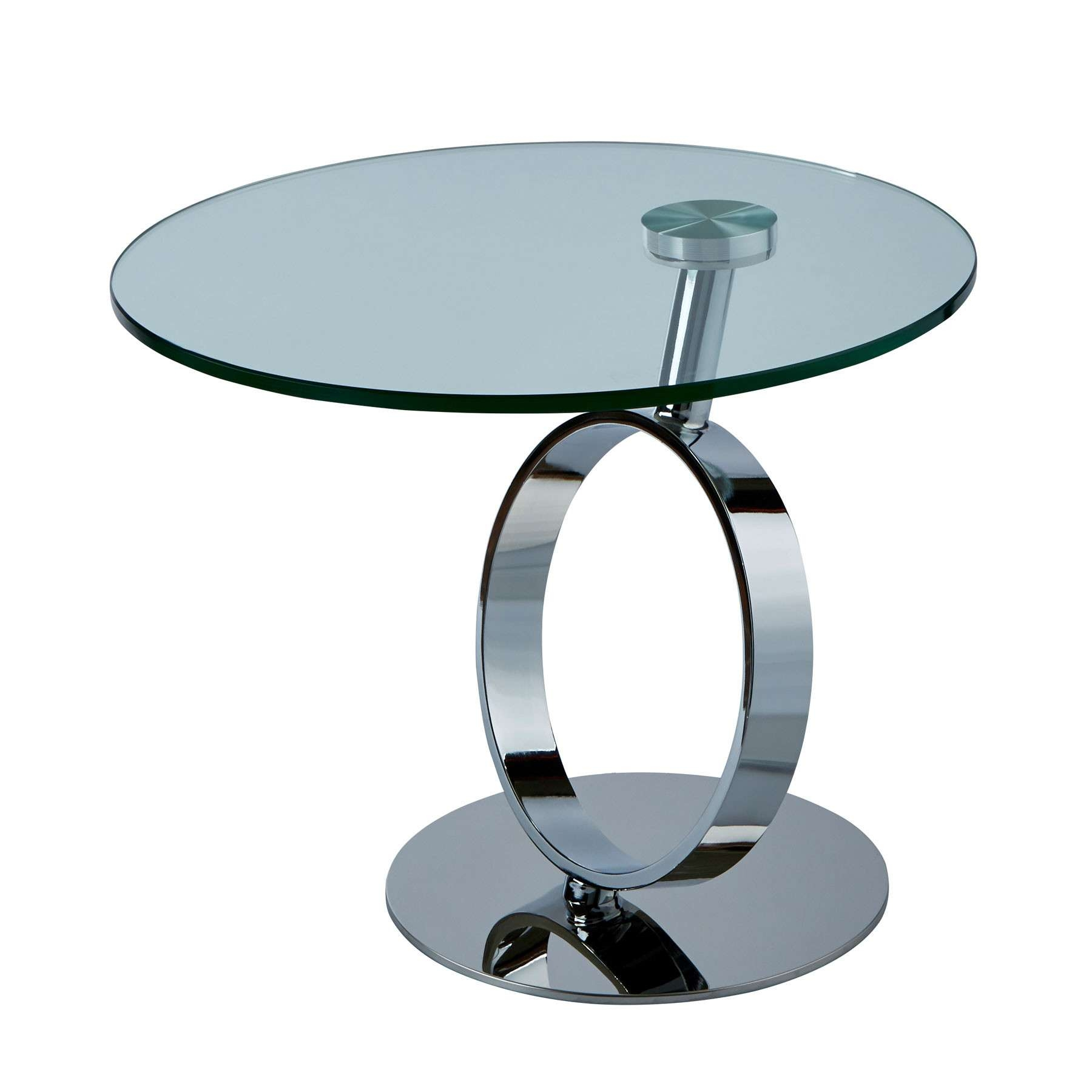Rings Chrome Side Table Inside Most Recent Round Coffee Tables View 15 Of 20