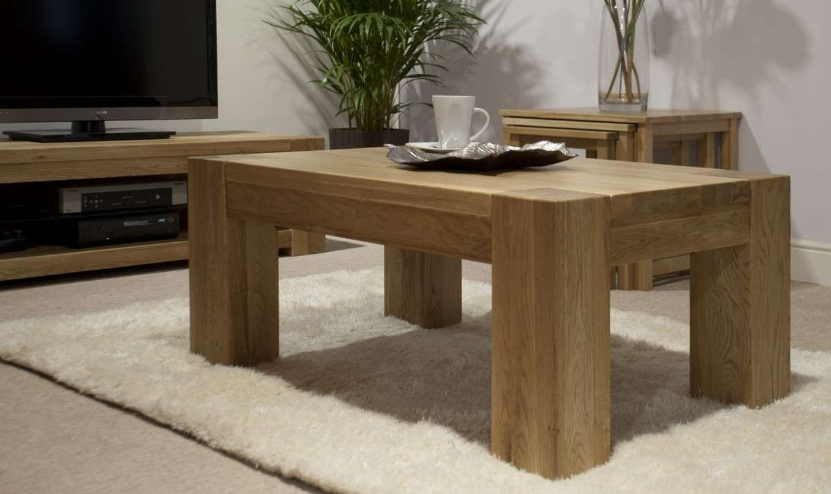 Ritzy Large Coffee Table Image Concept With Regard To Best And Newest Square Oak Coffee Tables (View 12 of 20)