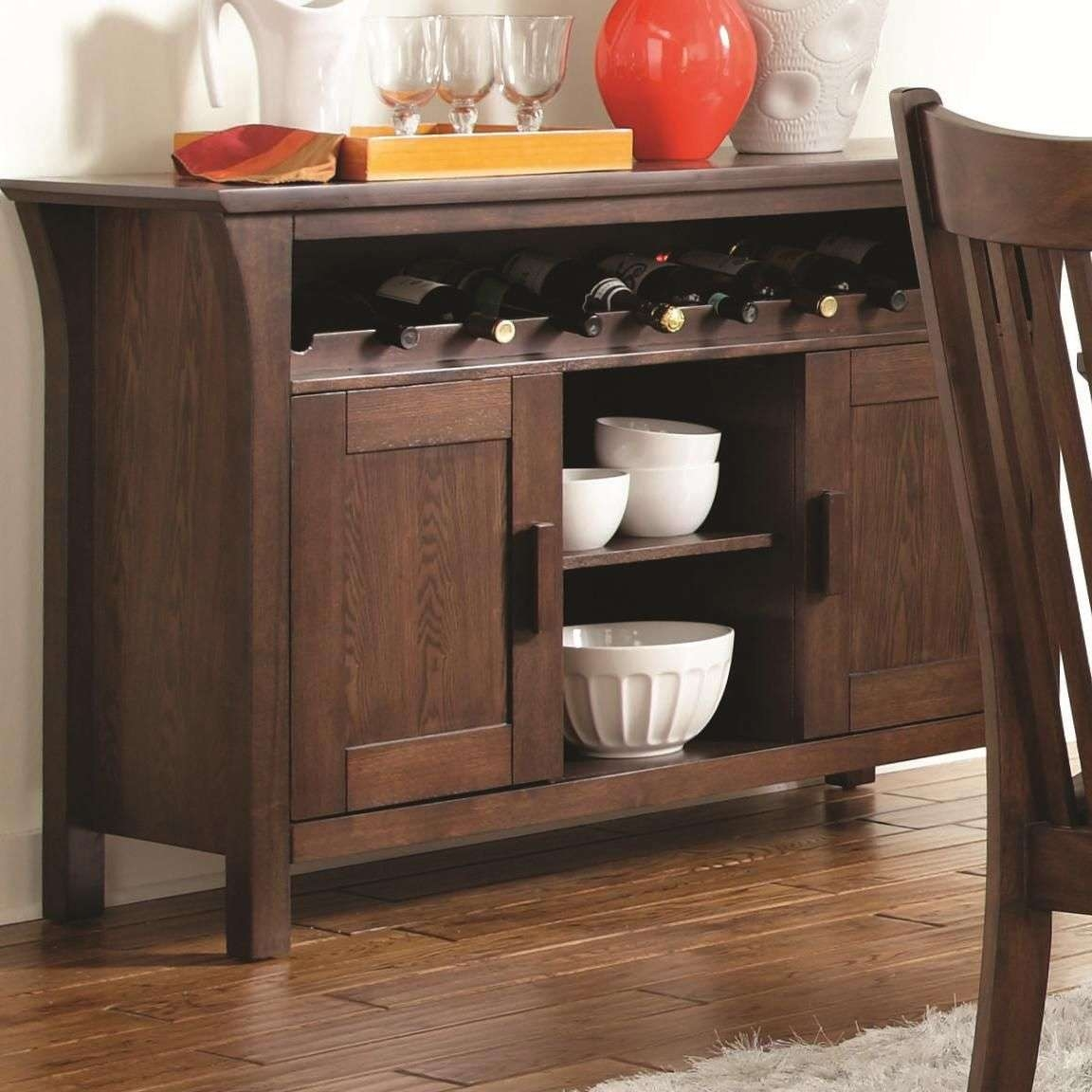 Rivera Dark Merlot Wood Buffet Table – Steal A Sofa Furniture With Dark Wood Sideboards (View 11 of 20)