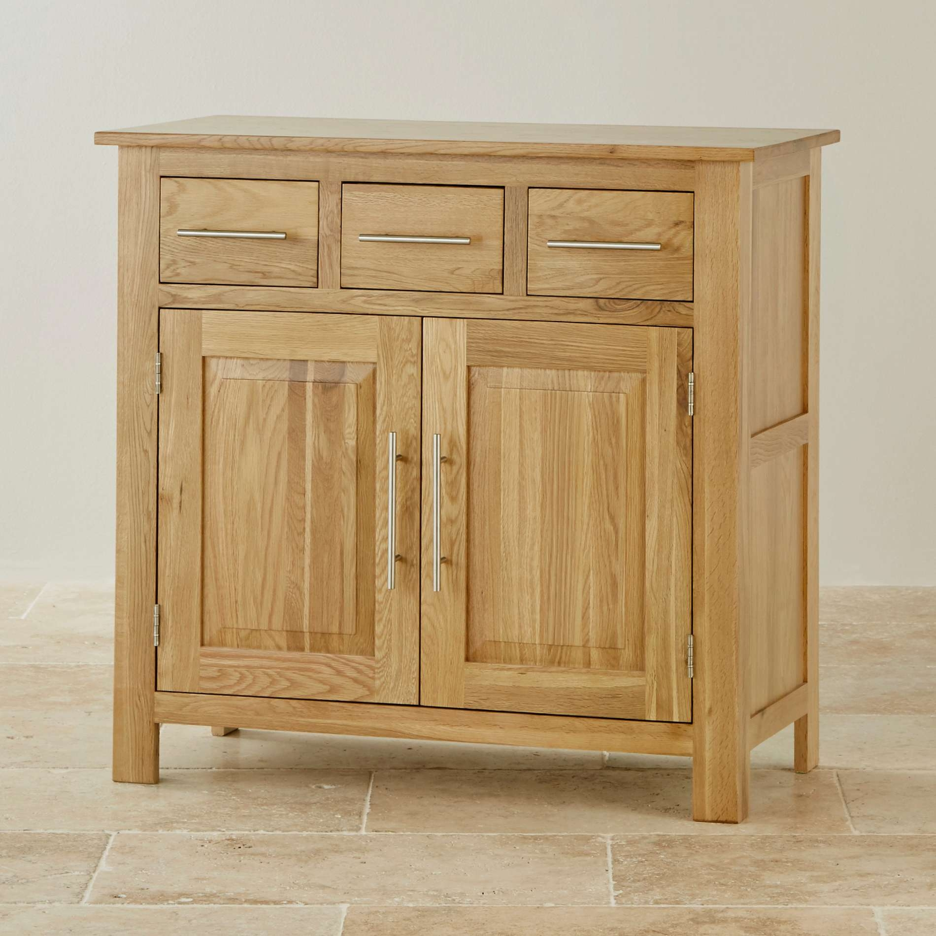 Rivermead Natural Solid Oak Small Sideboard | Oak Furniture Land Intended For Solid Oak Sideboards (View 14 of 20)