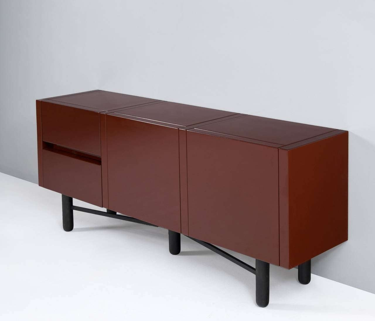 Roche Bobois Red Lacquered High Gloss Sideboard For Sale At 1stdibs Within Gloss Sideboards Furniture (View 20 of 20)