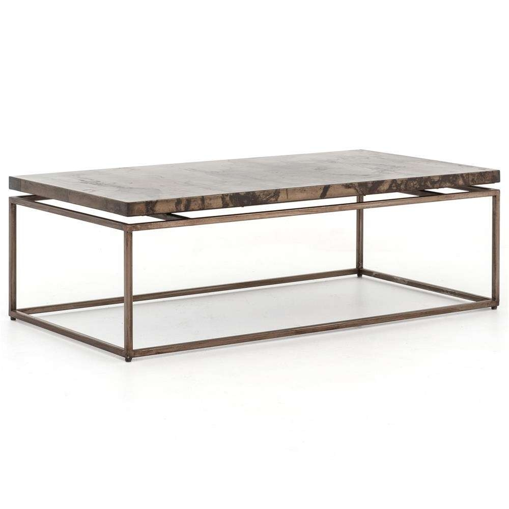 Rollins Industrial Loft Bronze Iron Coffee Table (View 4 of 20)