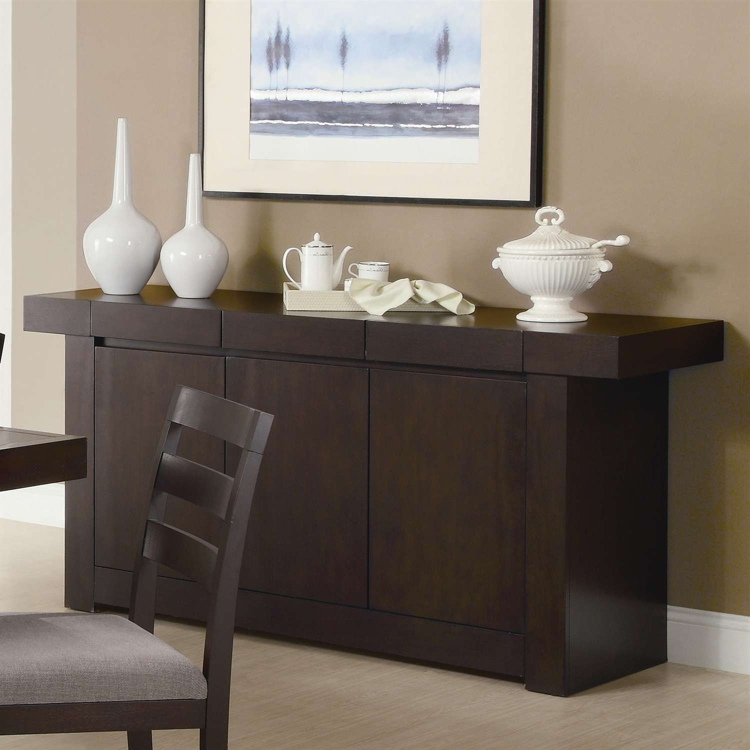 Room : Contemporary Sideboards For Dining Room Home Design New Regarding Dining Sideboards (View 18 of 20)