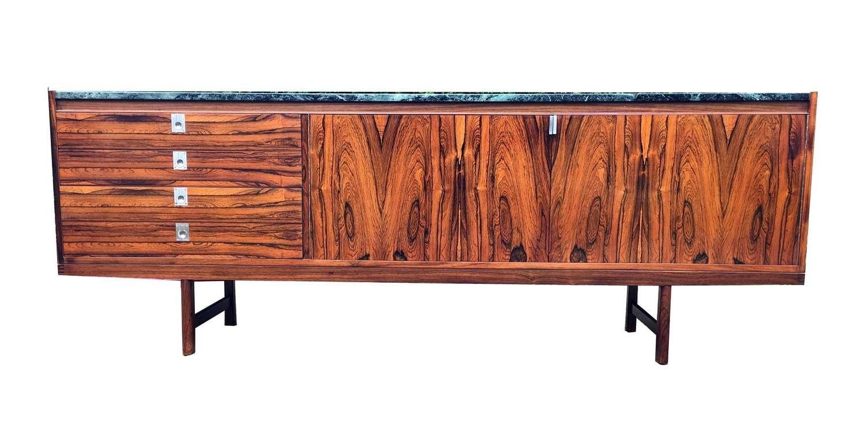 Rosewood Veneer Sideboard With Marble Toprobert Heritage For Pertaining To Marble Top Sideboards (View 16 of 20)