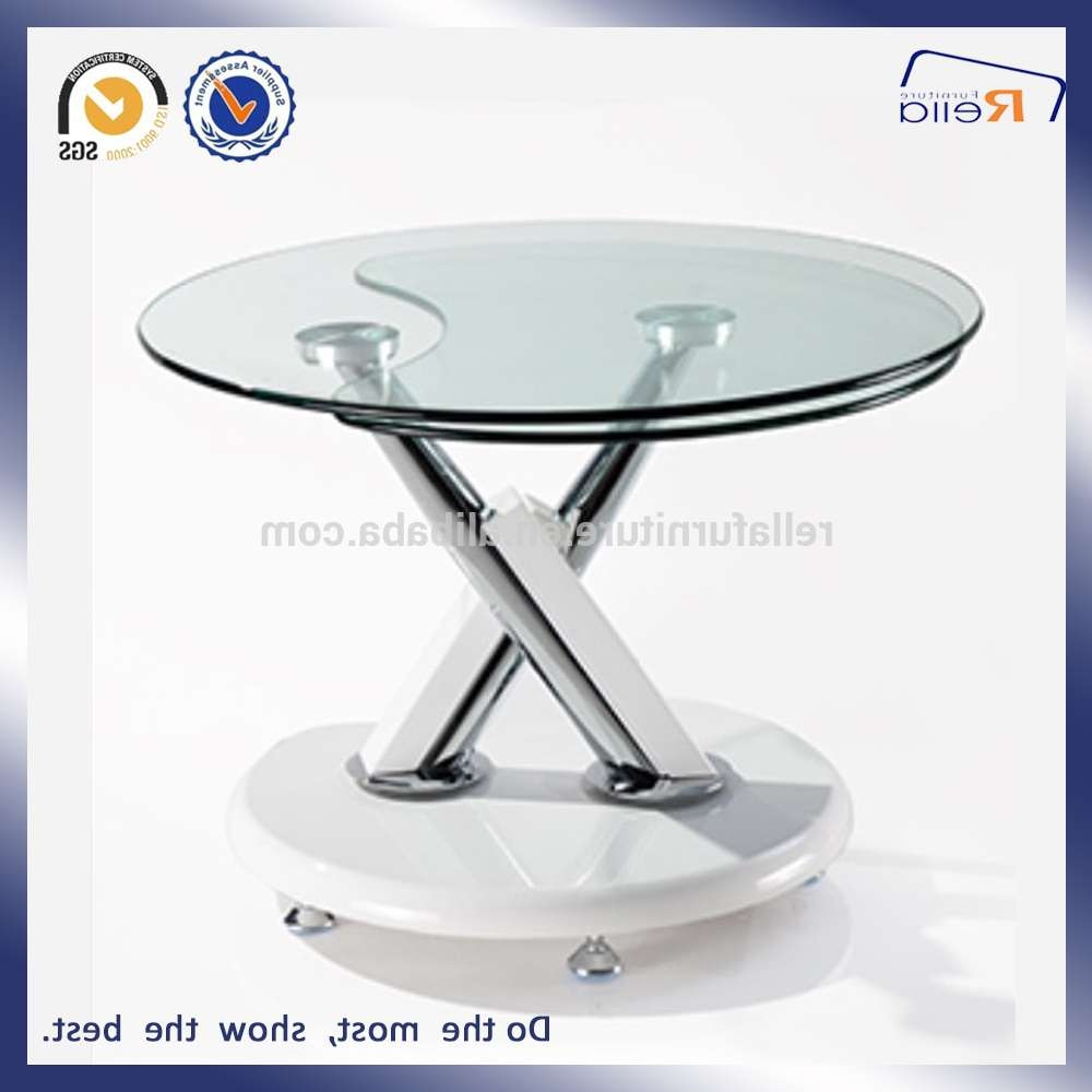 Rotating Glass Coffee Table / Coffee Tables / Thippo In Best And Newest Revolving Glass Coffee Tables (View 14 of 20)