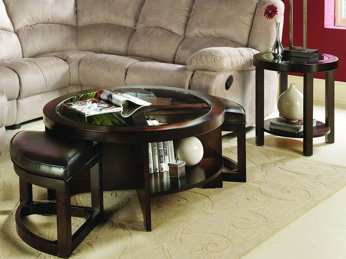 Round Coffee Tables For Your Cozy Seating Area – Traba Homes With Famous Coffee Tables With Seating And Storage (View 5 of 20)