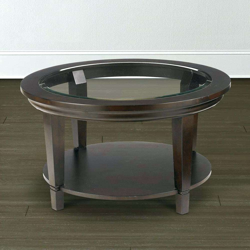Round Glass Coffee Table Metal Base With Marble Top Cocktail Full Within Well Liked Round Glass And Wood Coffee Tables (View 15 of 20)