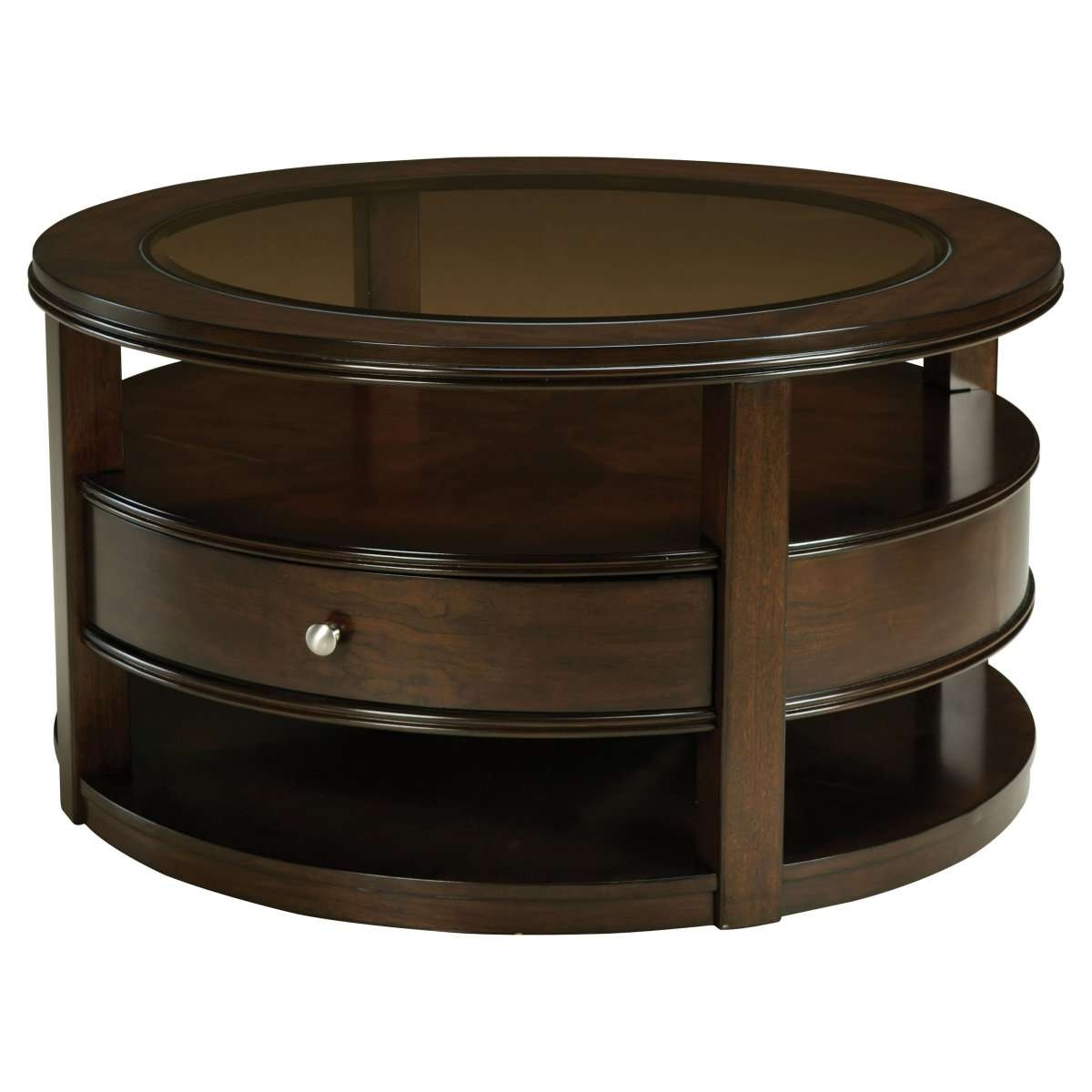 Round Glass Coffee Table Tags : Magnificent Coffee Tables With With Regard To Fashionable Round Coffee Tables With Drawers (View 3 of 20)