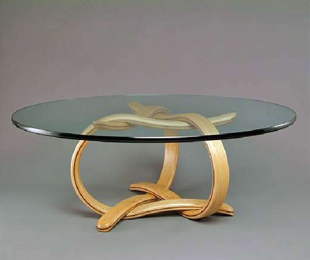 Round Glass Coffee Table Wood : Round Glass Coffee Table – Home With Most Recently Released Round Glass And Wood Coffee Tables (View 16 of 20)