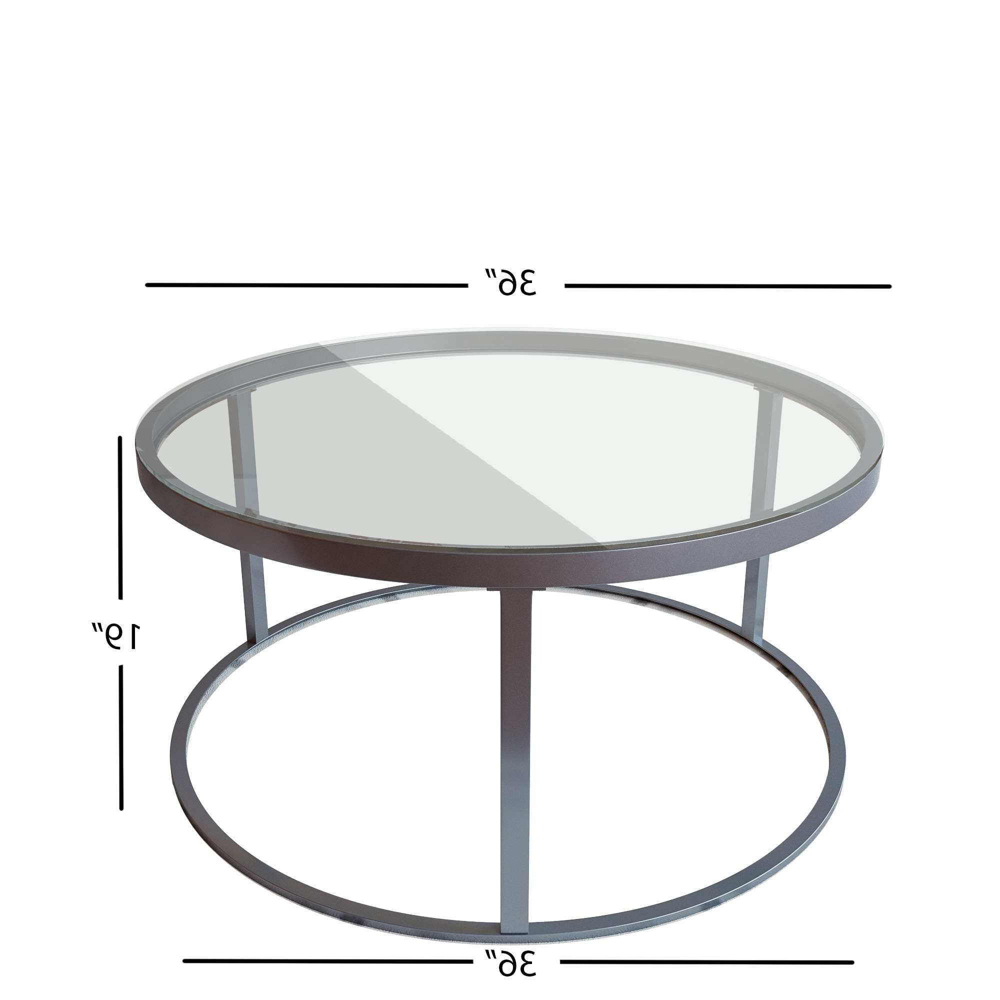 Round Glass Top Metal Coffee Table – Free Shipping Today In Widely Used Round Glass Coffee Tables (View 18 of 20)