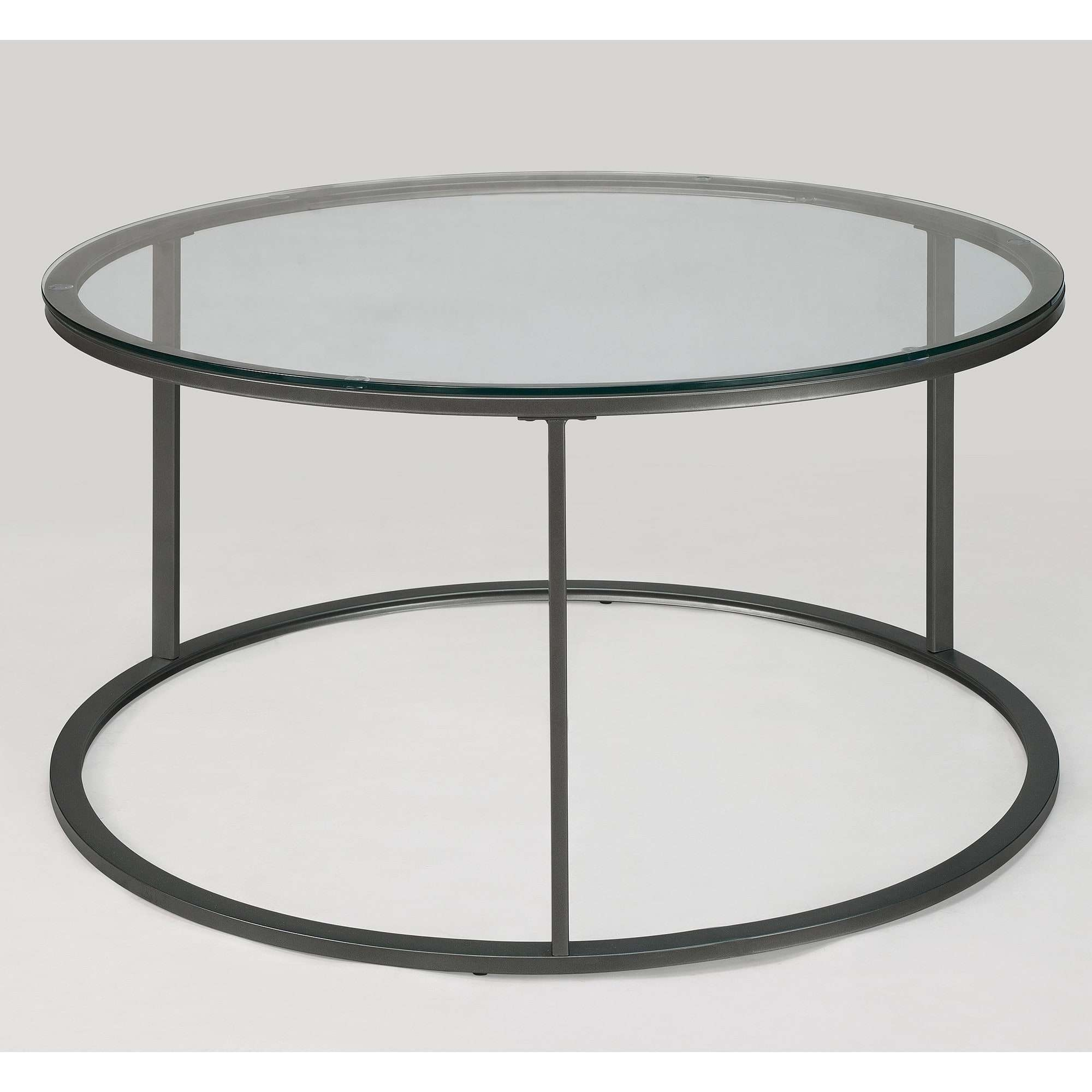 Round Glass Top Metal Coffee Table – Free Shipping Today With Most Recent Round Metal Coffee Tables (View 15 of 20)