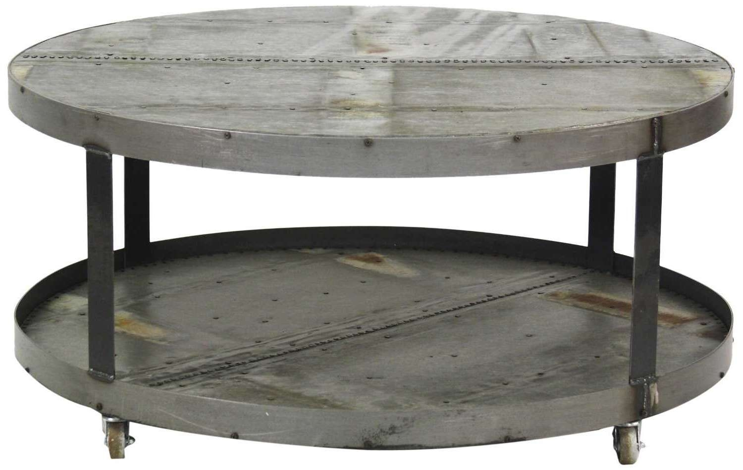 Round Metal Coffee Table – Metal Round Coffee Table Base Only With Most Up To Date Round Steel Coffee Tables (View 4 of 20)