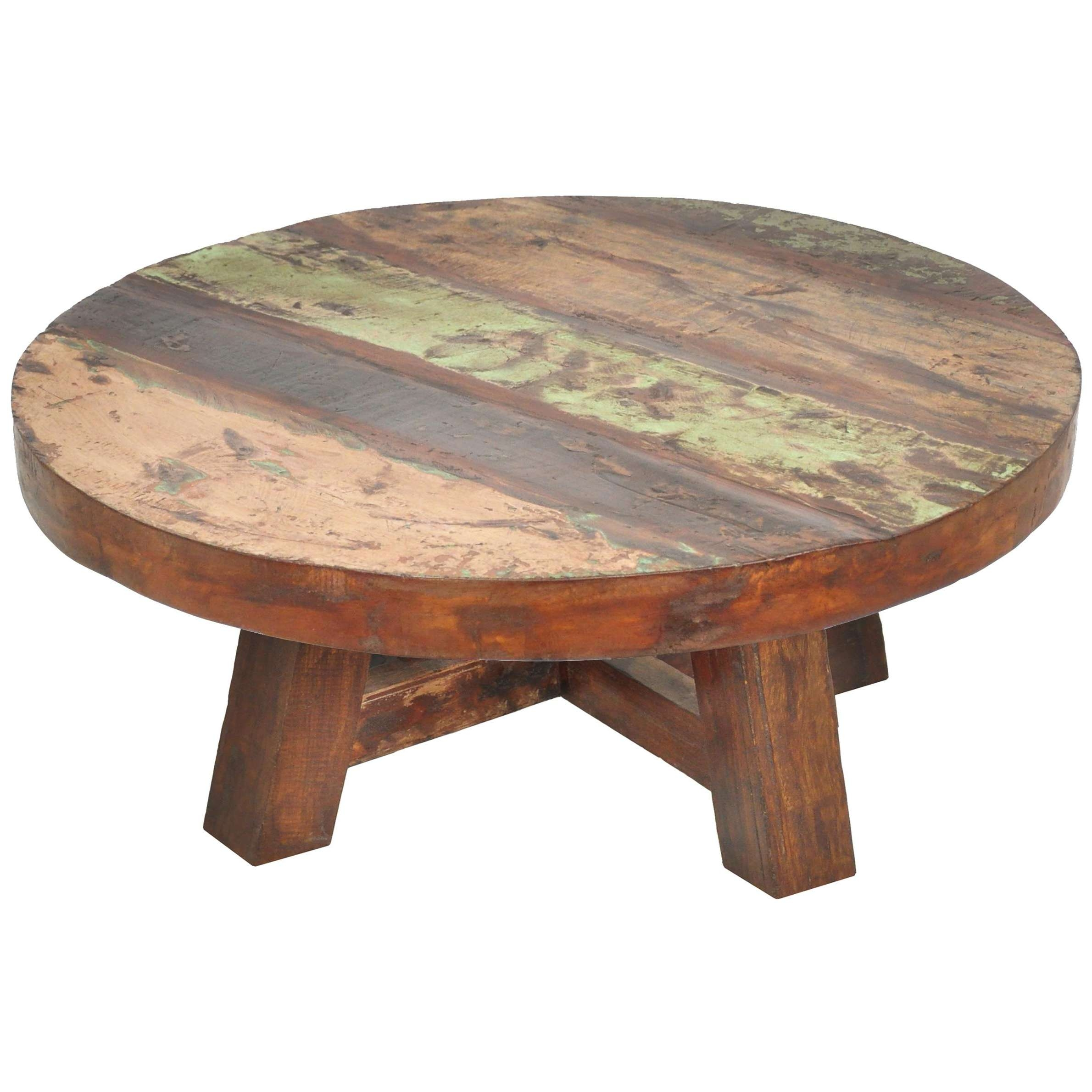 Round Natural Wood Coffee Table – Chocoaddicts – Chocoaddicts Throughout Recent Wooden Garden Coffee Tables (View 2 of 20)