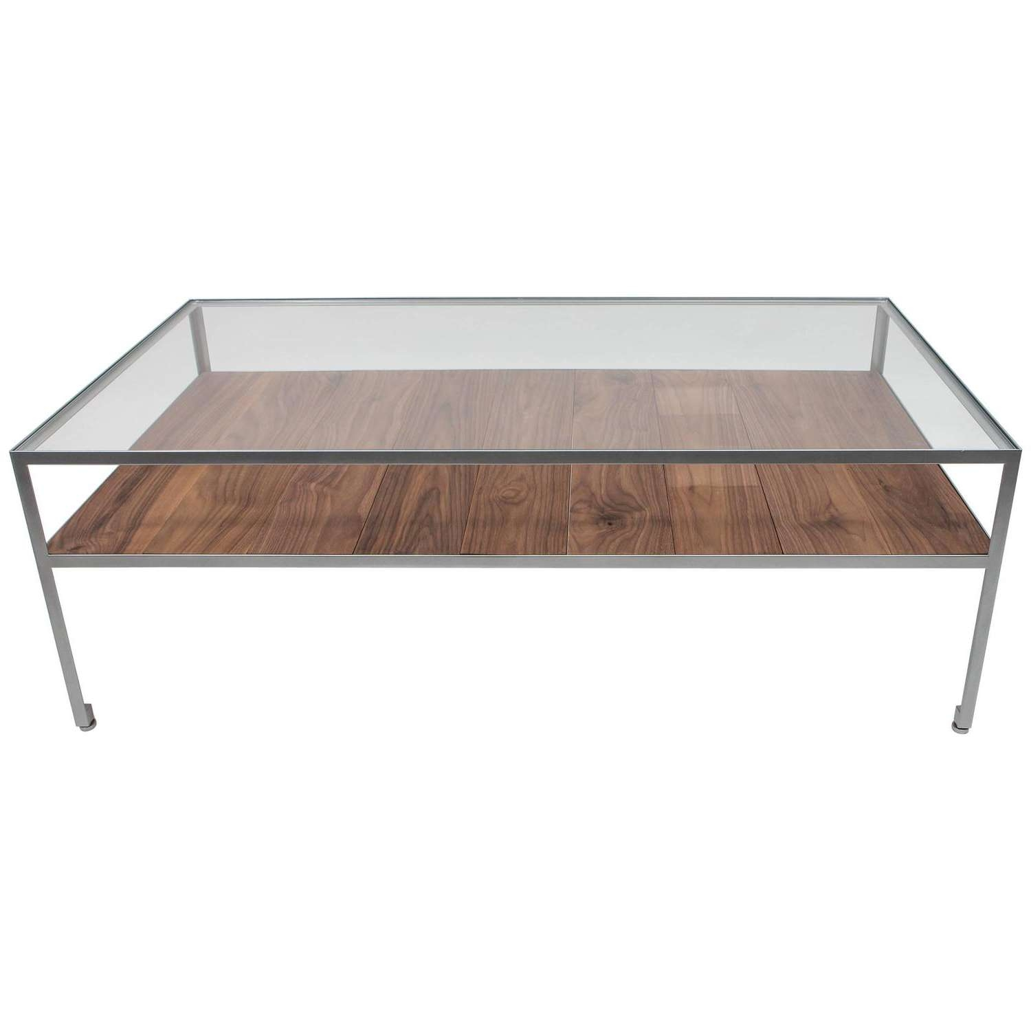Round Nickel Over Steel Floating Glass Coffee Table For Sale At Intended For Latest Floating Glass Coffee Tables (View 7 of 20)