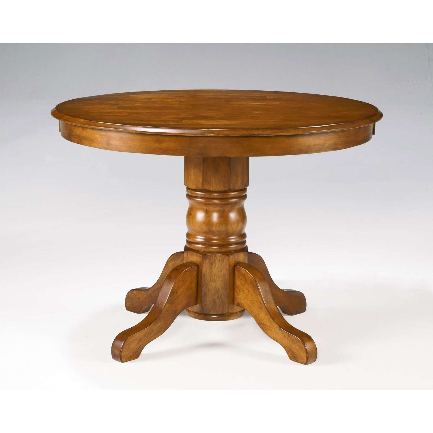 Round Oak Pedestal Coffee Table (View 9 of 20)