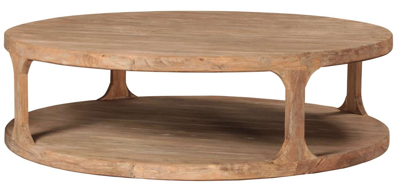 Round Reclaimed Wood Coffee Table – Taramundi Furniture & Home Decor In Widely Used Wooden Coffee Tables (View 8 of 20)