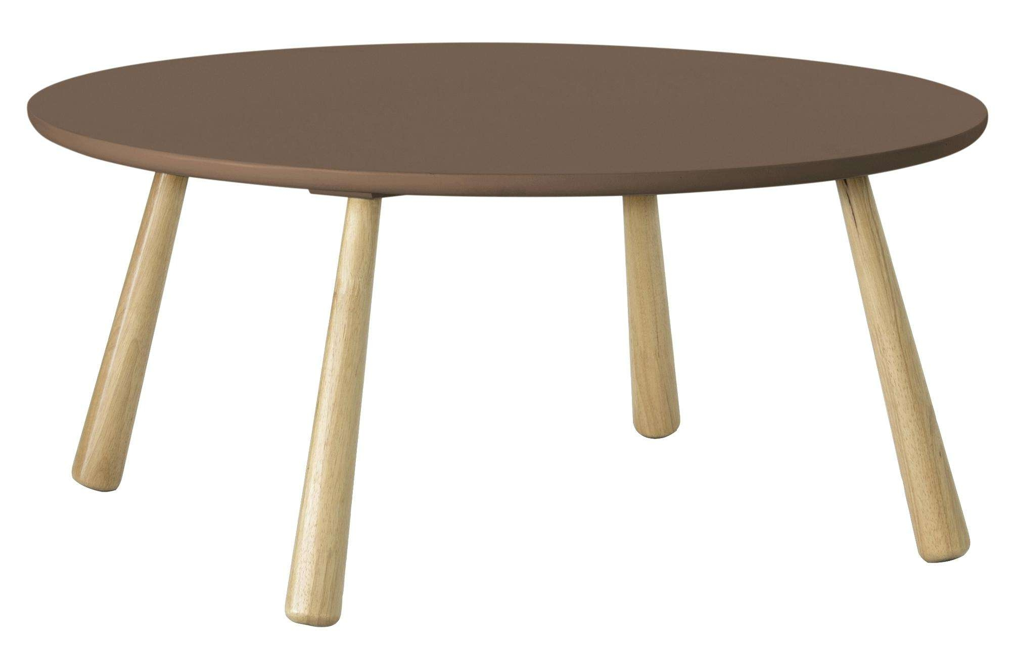 Round Retro Coffee Table Diamond Dining With Solid Oak Legs Within Latest Retro Oak Coffee Tables (View 17 of 20)