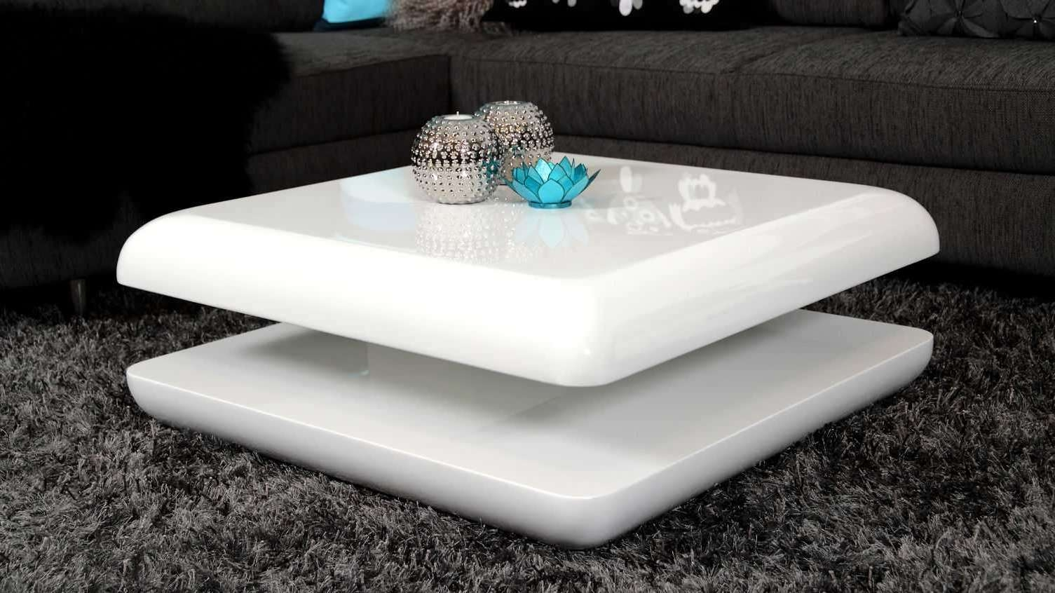 Round White Gloss Coffee Table (View 8 of 20)