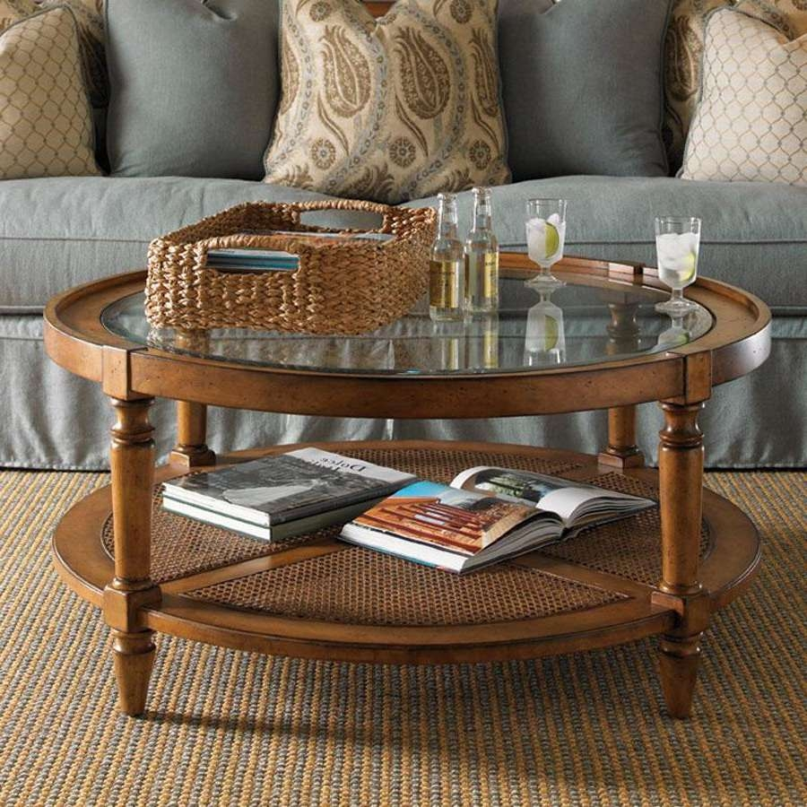 Round Wood And Glass Coffee Table Round Coffee Table With Storage Intended For Latest Round Wood And Glass Coffee Tables (View 2 of 20)