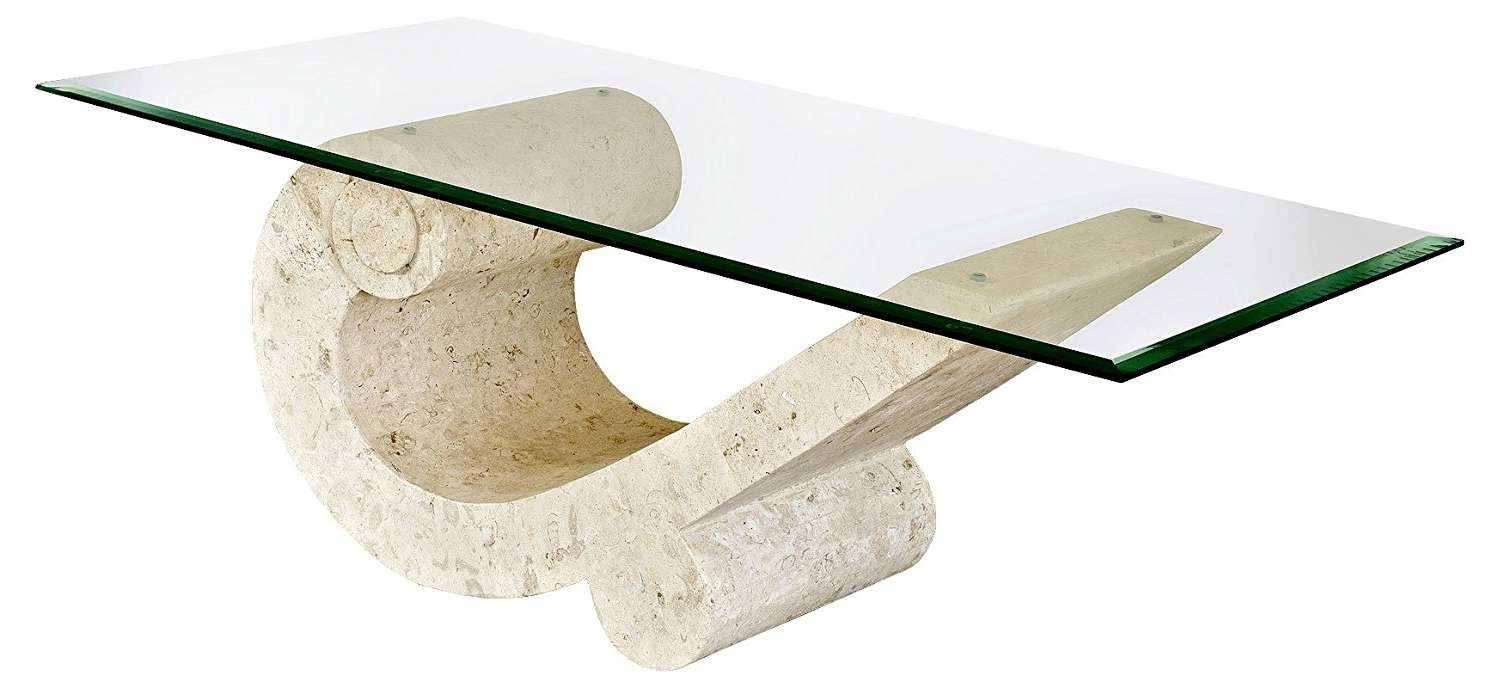 Featured Photo of Glass And Stone Coffee Table