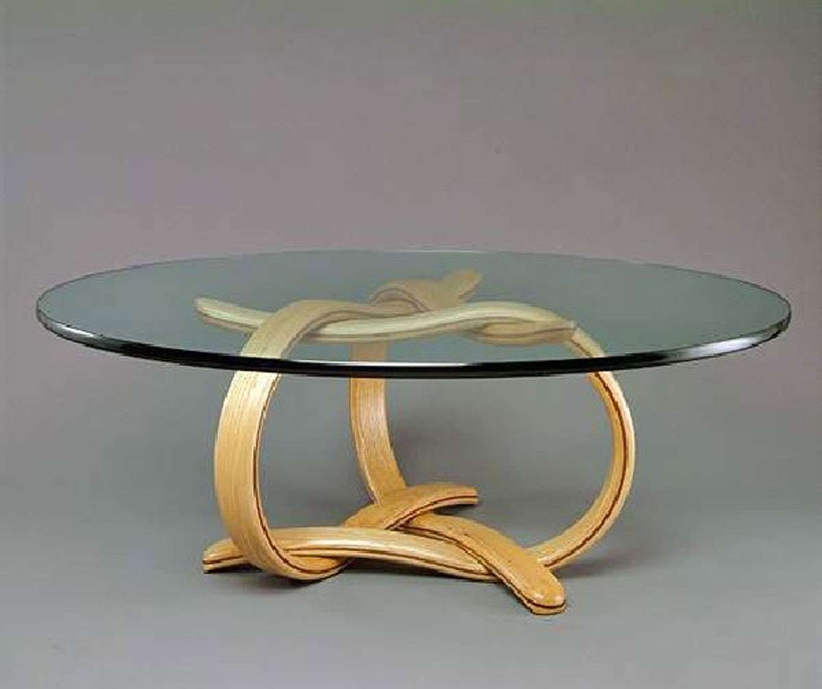 Round Wood And Iron Coffee Table Round Glass Coffee Table Creative Intended For Trendy Thick Glass Coffee Table (View 19 of 20)