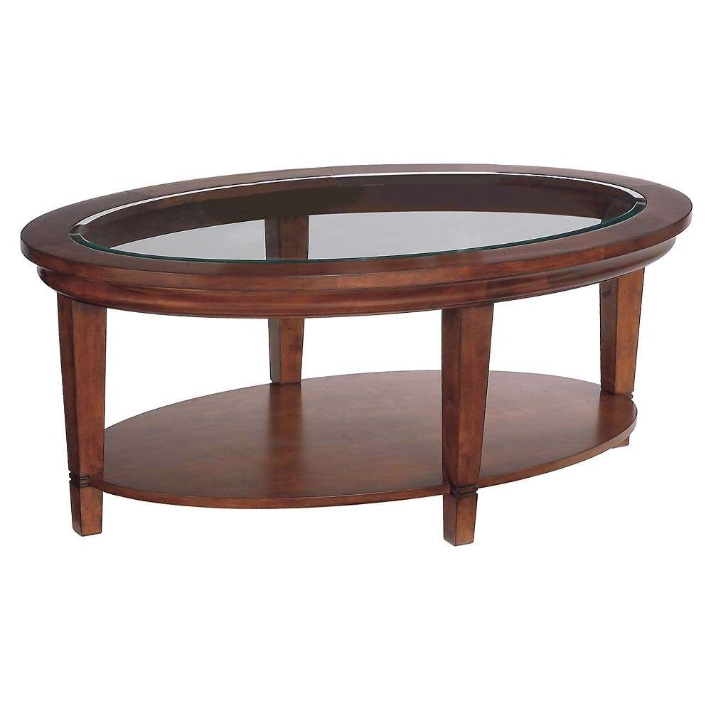 Round Wood Coffee Table With Storage Round Cherry Wood And Glass In Current Round Glass And Wood Coffee Tables (View 17 of 20)