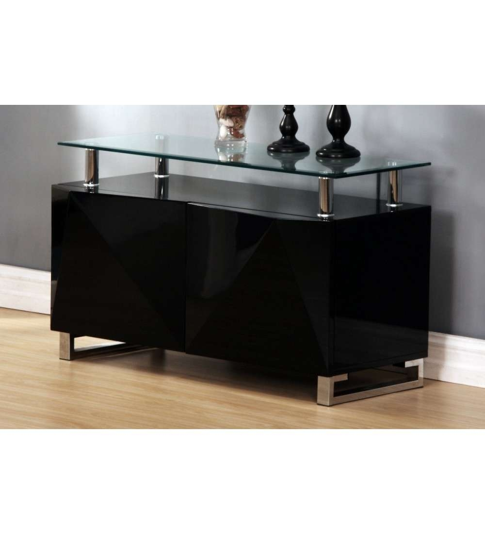Rowley Black High Gloss Sideboard 2 Door – Grab Some Furniture For High Gloss Sideboards (View 20 of 20)