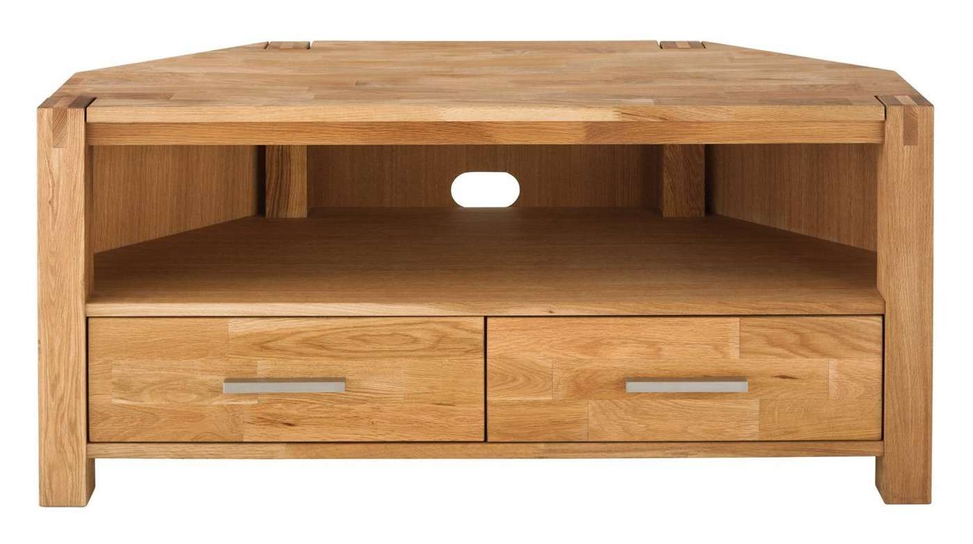 Royal Oak Corner Tv Unit | Hills Furniture Store Intended For Large Oak Tv Cabinets (View 11 of 20)