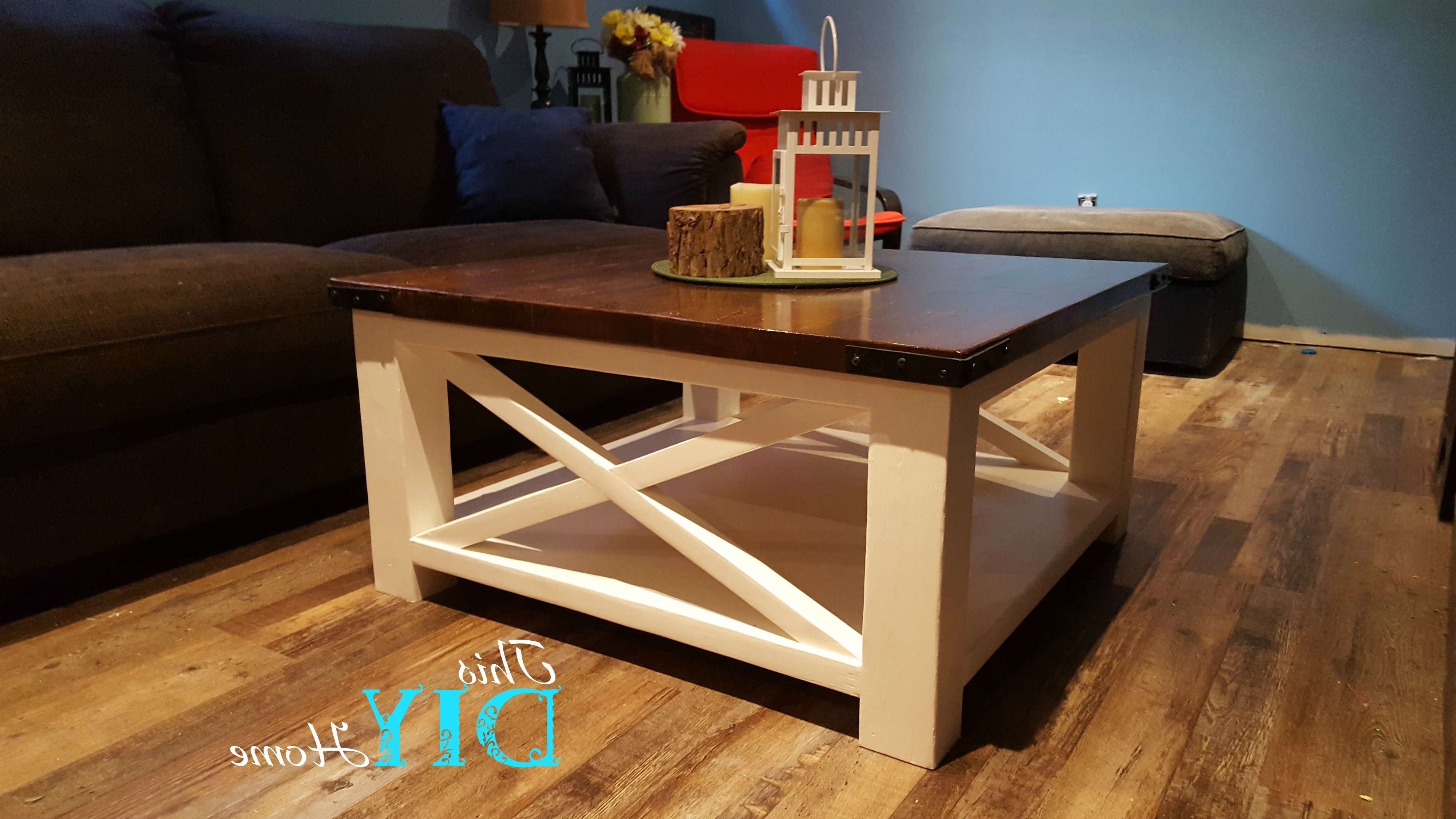 Rustic Chunky Leg Coffee Table – This Diy Home Regarding Recent Chunky Coffee Tables (View 17 of 20)