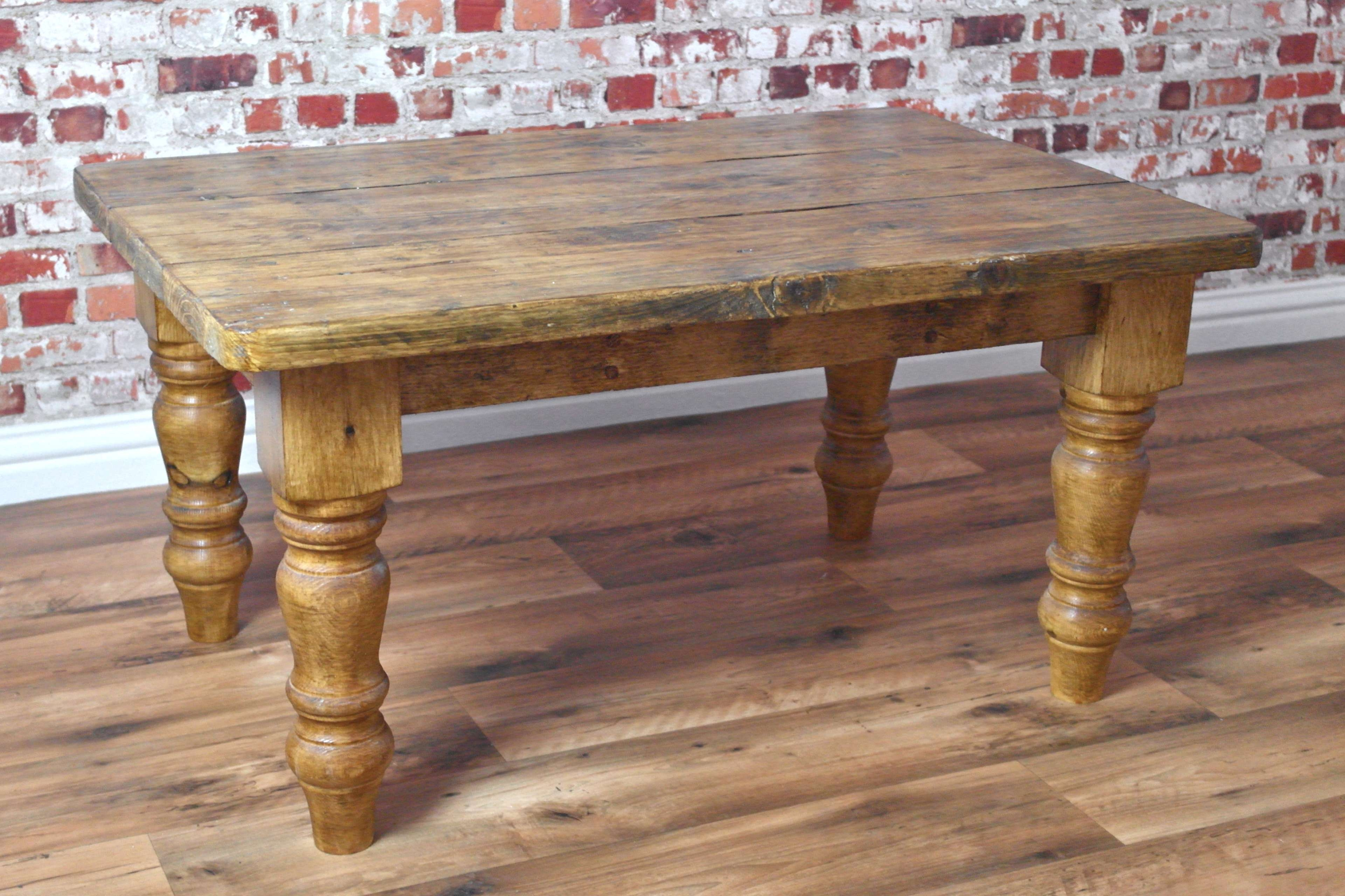 Rustic Coffee Table Made From Reclaimed Pine Farmhouse Style In Latest Antique Pine Coffee Tables (View 18 of 20)