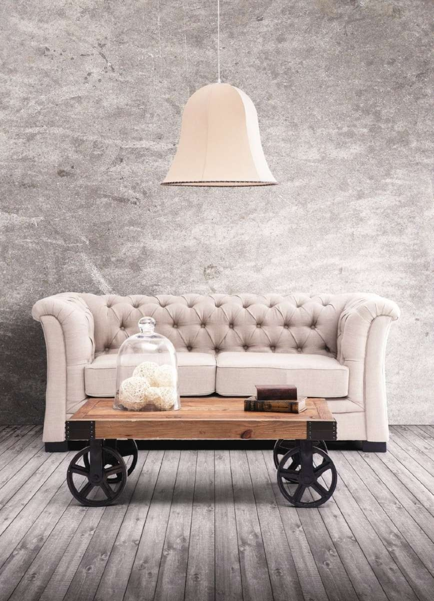 Rustic Coffee Table With Wheels Wooden (View 12 of 20)