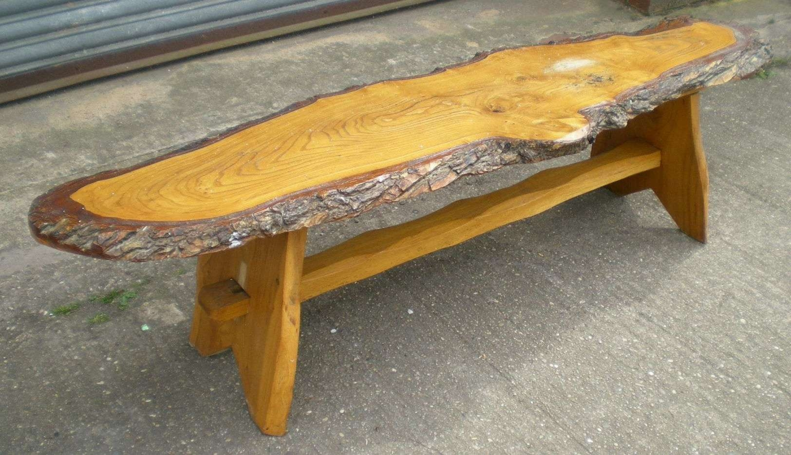 Rustic Log Table Rustic Look, Long Log Style Coffee Table This For Famous Rustic Style Coffee Tables (View 6 of 20)
