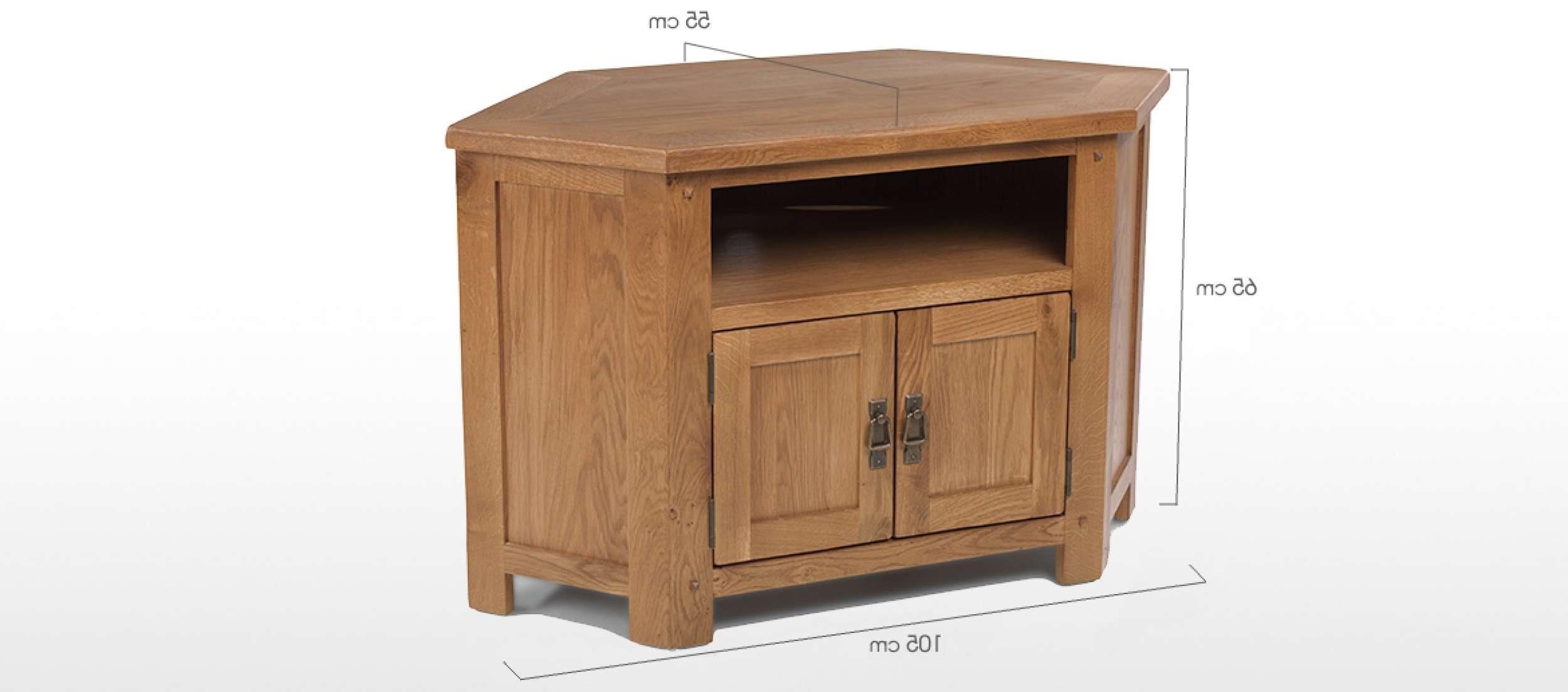 Rustic Oak Corner Tv Cabinet | Quercus Living Regarding Rustic Corner Tv Cabinets (View 2 of 20)