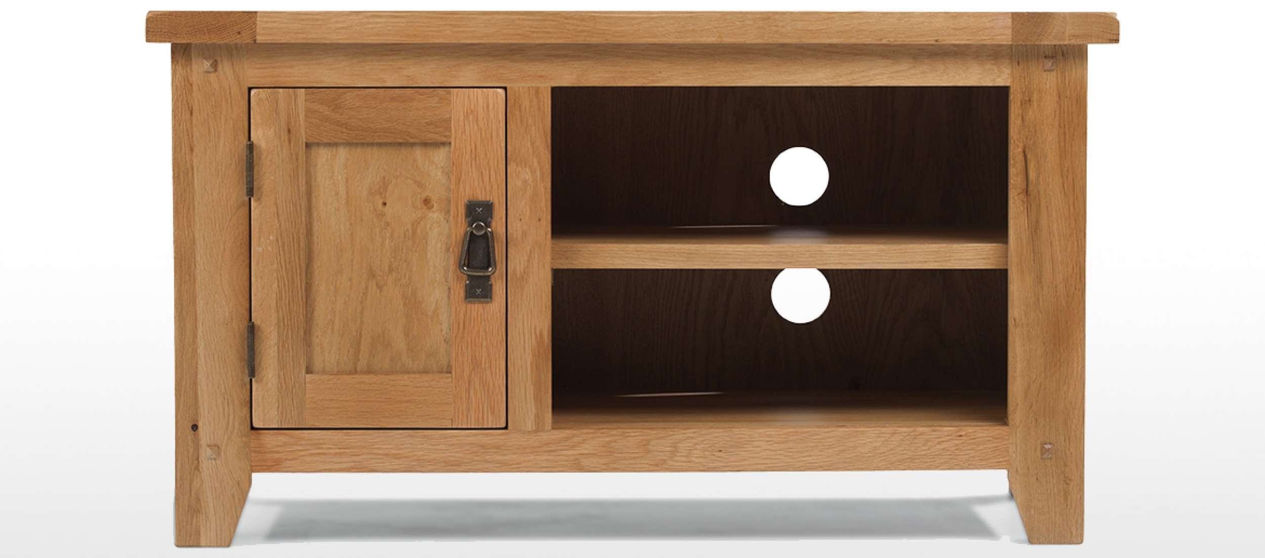 Rustic Oak Tv Unit | Quercus Living Within Oak Tv Cabinets (View 11 of 20)