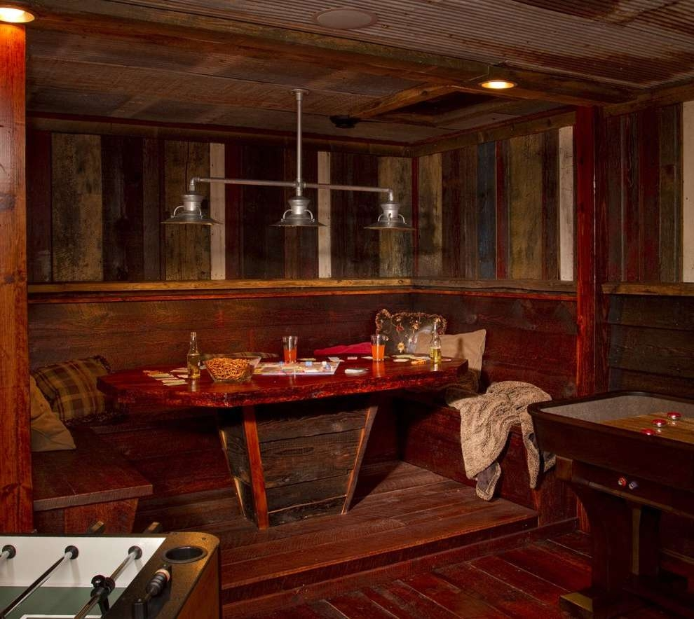 Rustic Pub Tables Dining Room Eclectic With Chairs Medium Tone With Regard To Eclectic Sideboards (View 14 of 20)