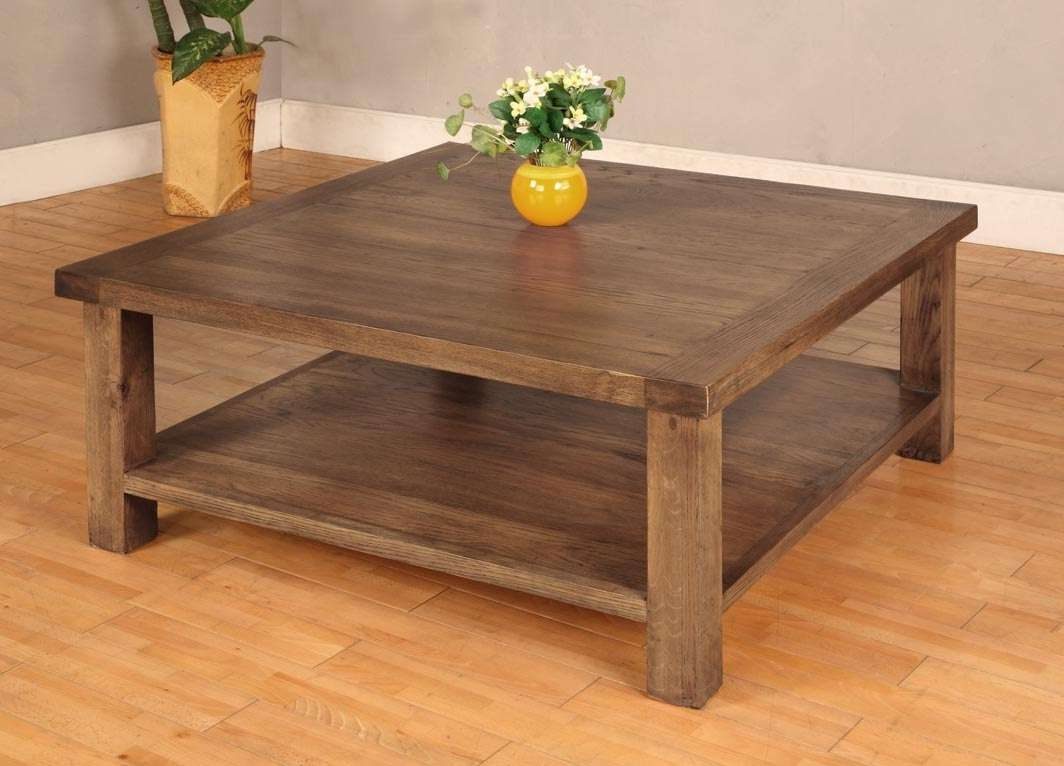 Rustic Square Coffee Table Plans Square Rustic Coffee Table Solid Pertaining To Most Up To Date Solid Oak Coffee Table With Storage (View 13 of 20)