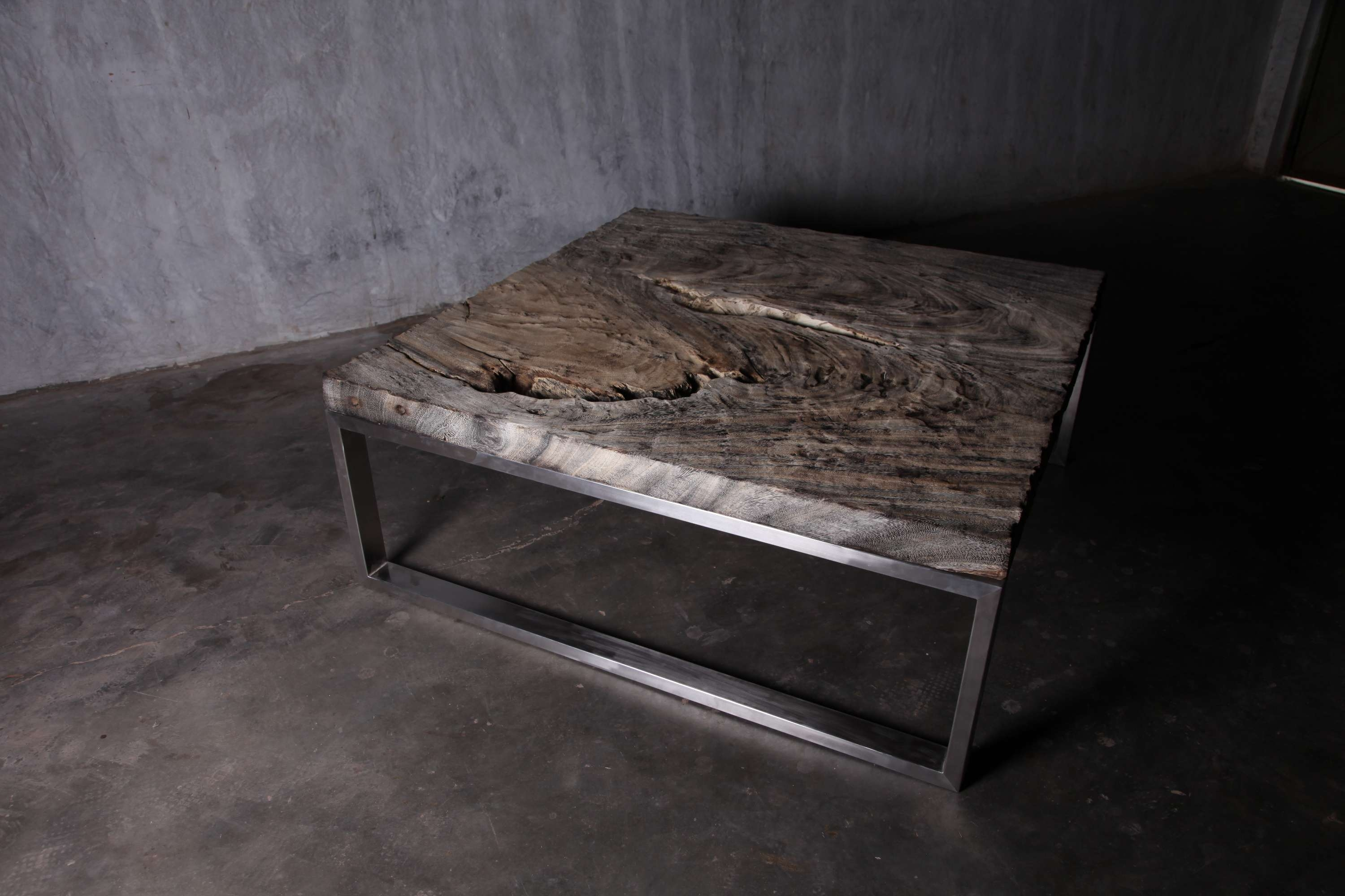 Rustic Square Coffee Table With Storage With Metal Materials Base Inside Popular Square Stone Coffee Tables (View 16 of 20)