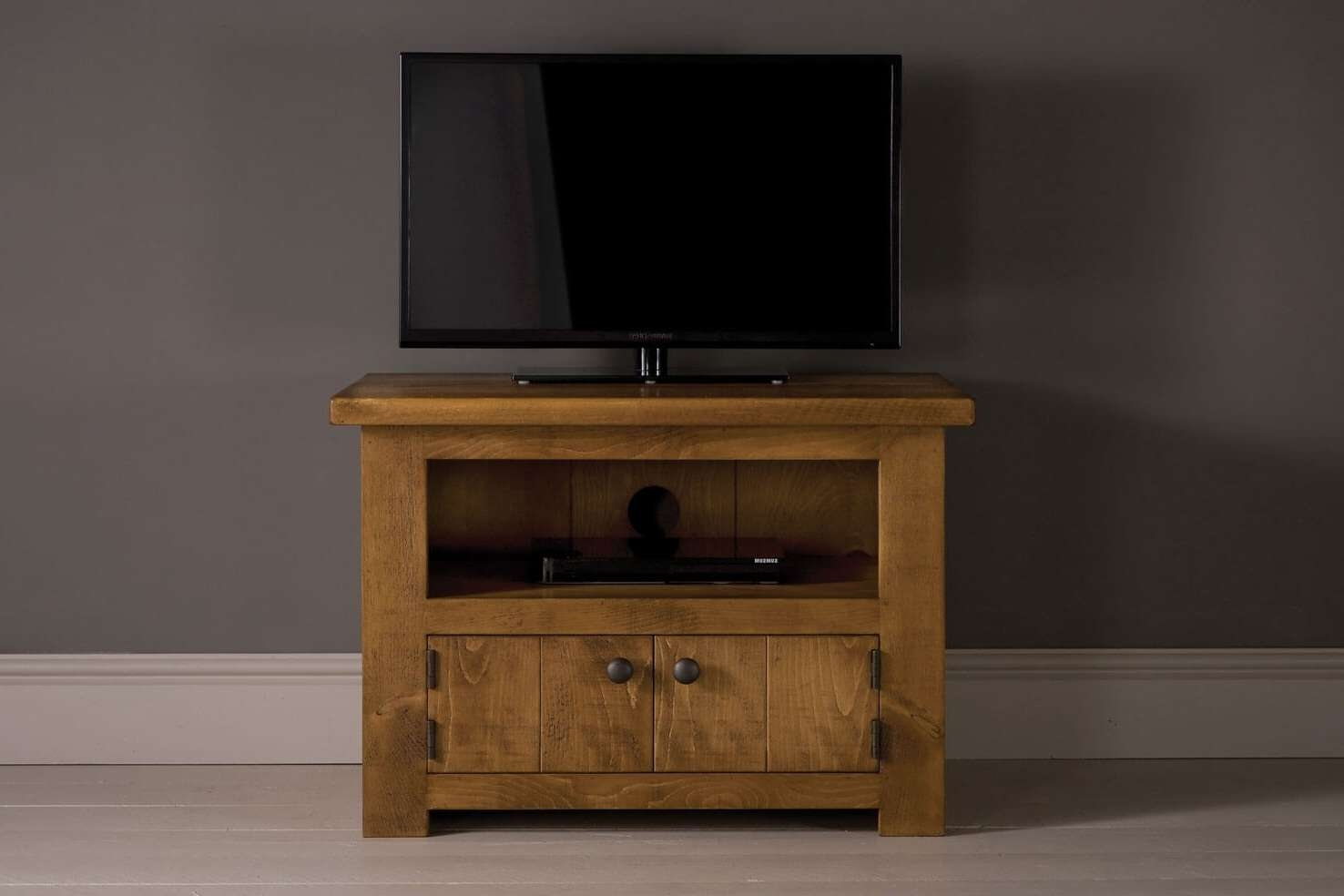Rustic Tv Cabinets, Stands & Units | Solid Wood & Oak | Indigo Throughout Small Tv Cabinets (View 11 of 20)