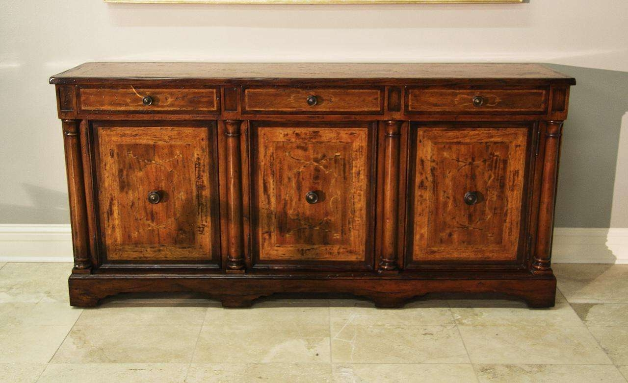 Rustic Walnut Sideboard For Dining Room Or Office Credenza Pertaining To Credenzas And Sideboards (View 15 of 20)