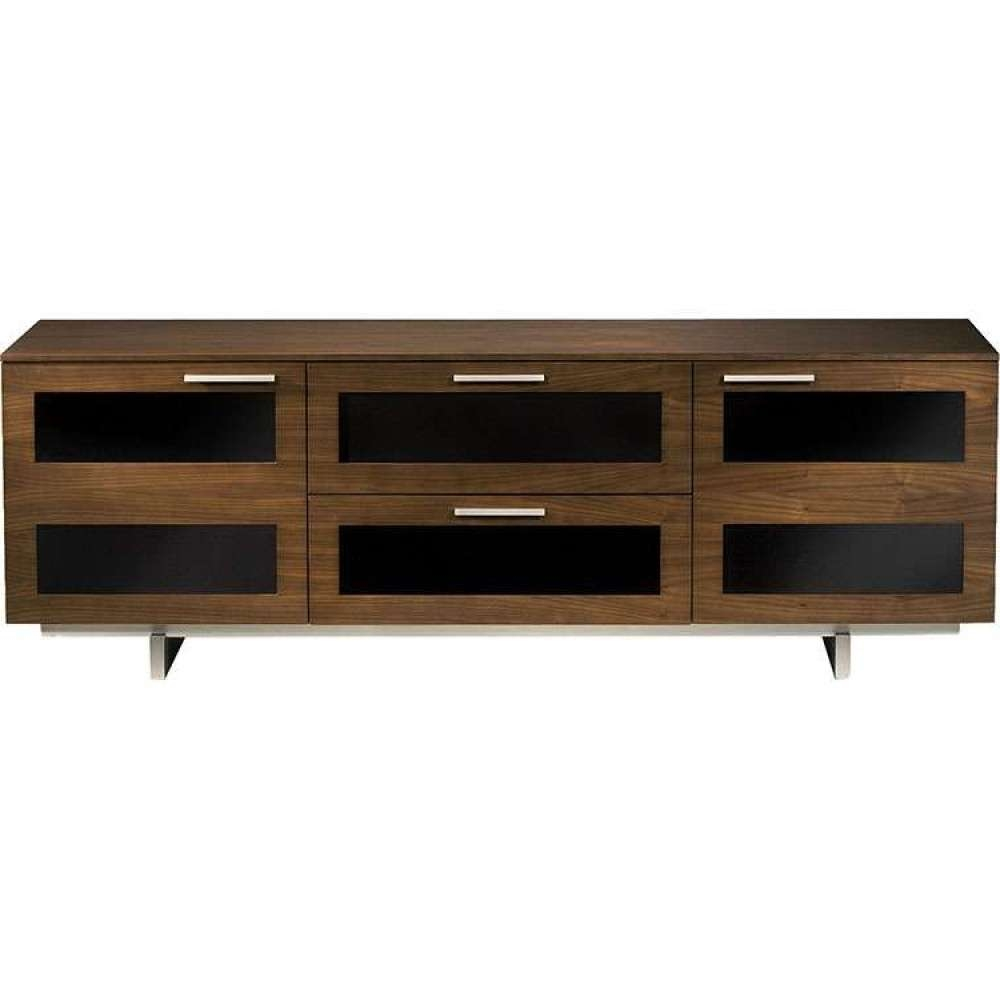 Rustic Wide Quality Wooden Low Media Table Unit Shelf Pertaining To Walnut Tv Cabinets (View 17 of 20)