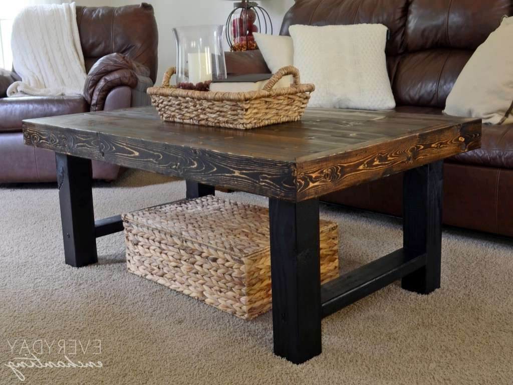 Rustic Wood Coffee Table Beautiful Furniture Diy Coffee Tables Inside Most Current Rustic Wood Diy Coffee Tables (View 2 of 20)