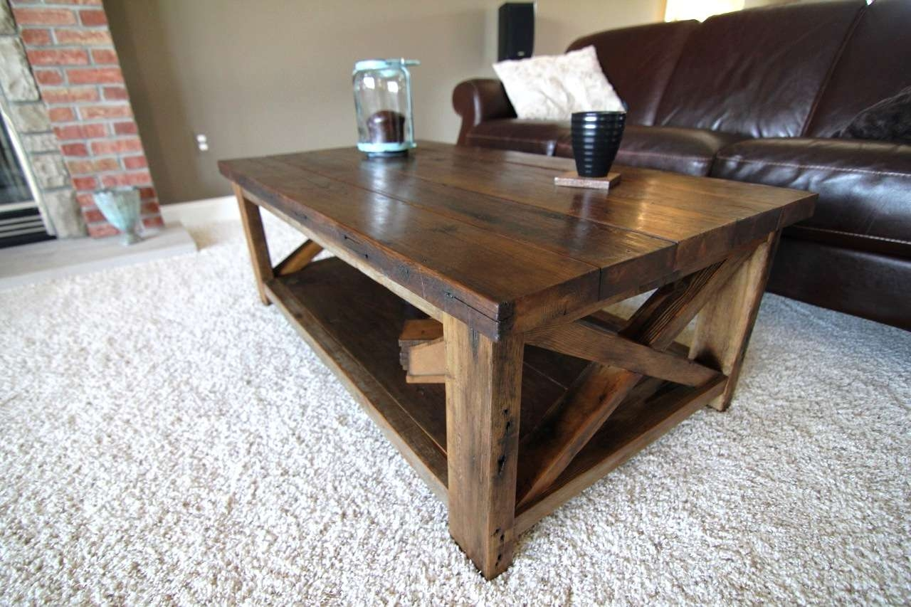 Rustic X Coffee Table – Diy Projects Within Favorite Rustic Wooden Coffee Tables (View 11 of 20)